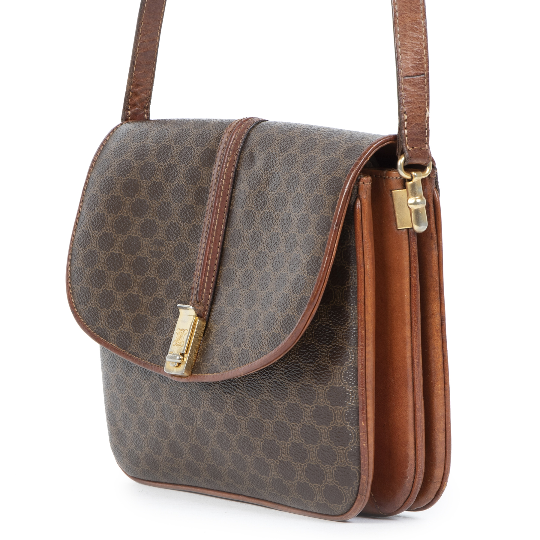 Authentic Secondhand Celine Monogram Crossbody Bag at the right price safe and secure online webshop LabelLOV Antwerp