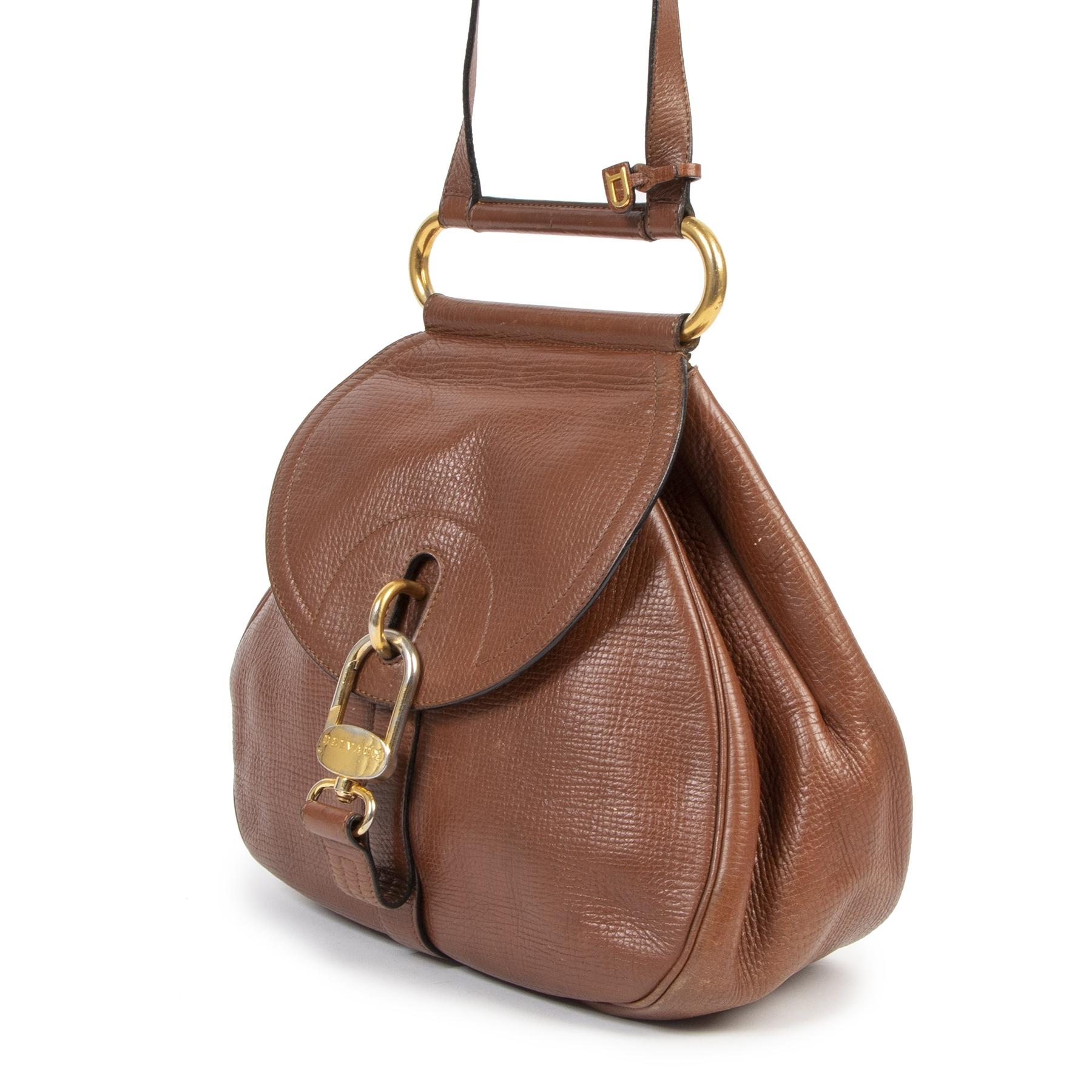 Delvaux Cognac Cerceau Jumping Bag