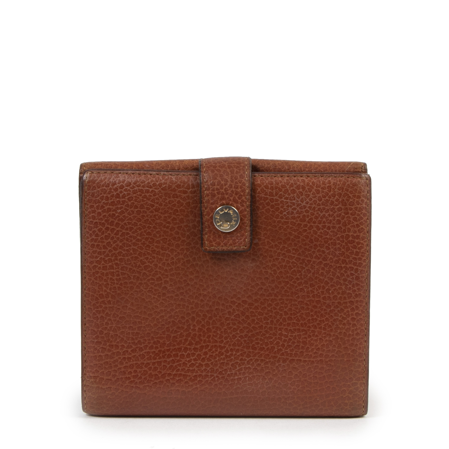 Delvaux Cognac Leather Wallet