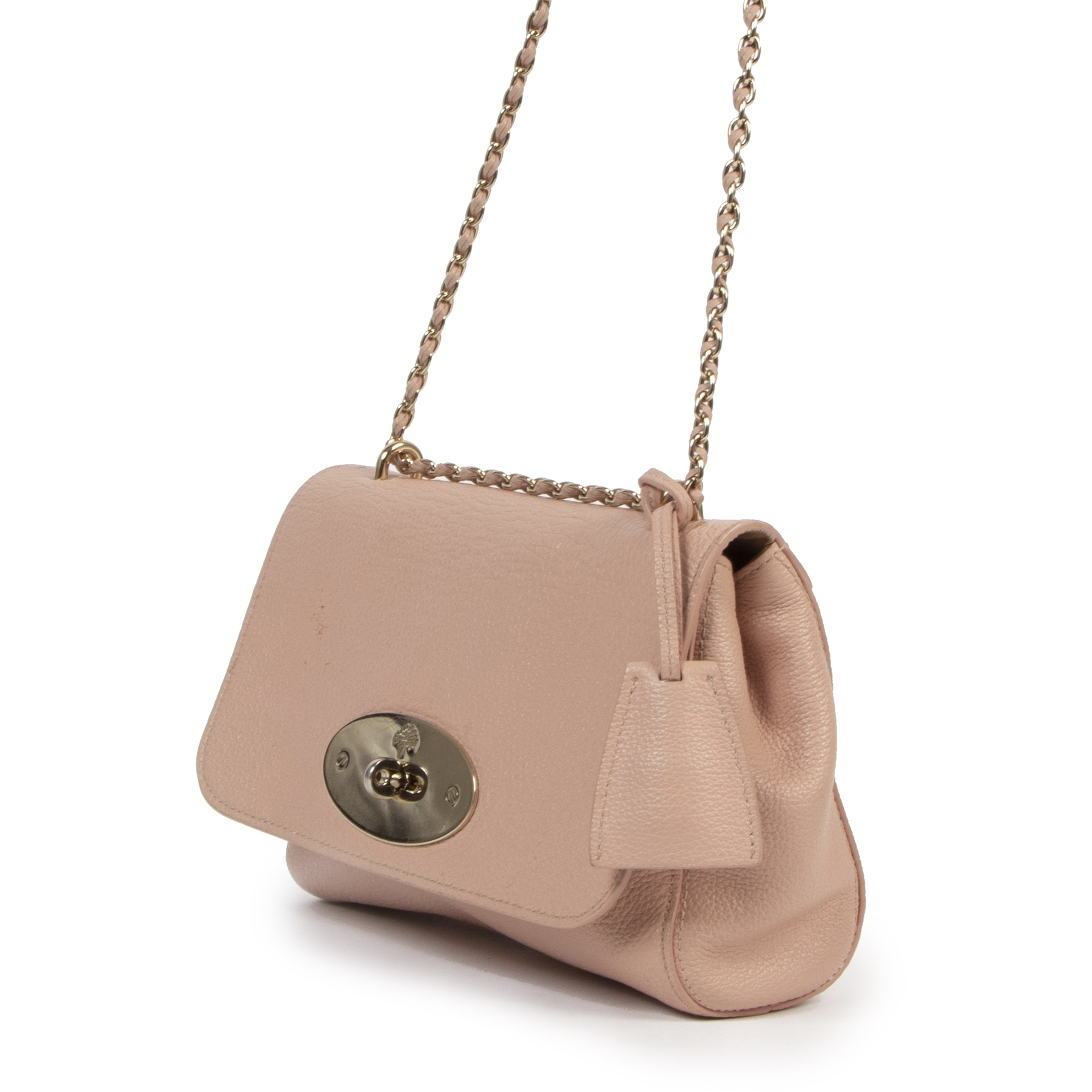 koop veilig online Mulberry Pink Small Lily shoulder bag