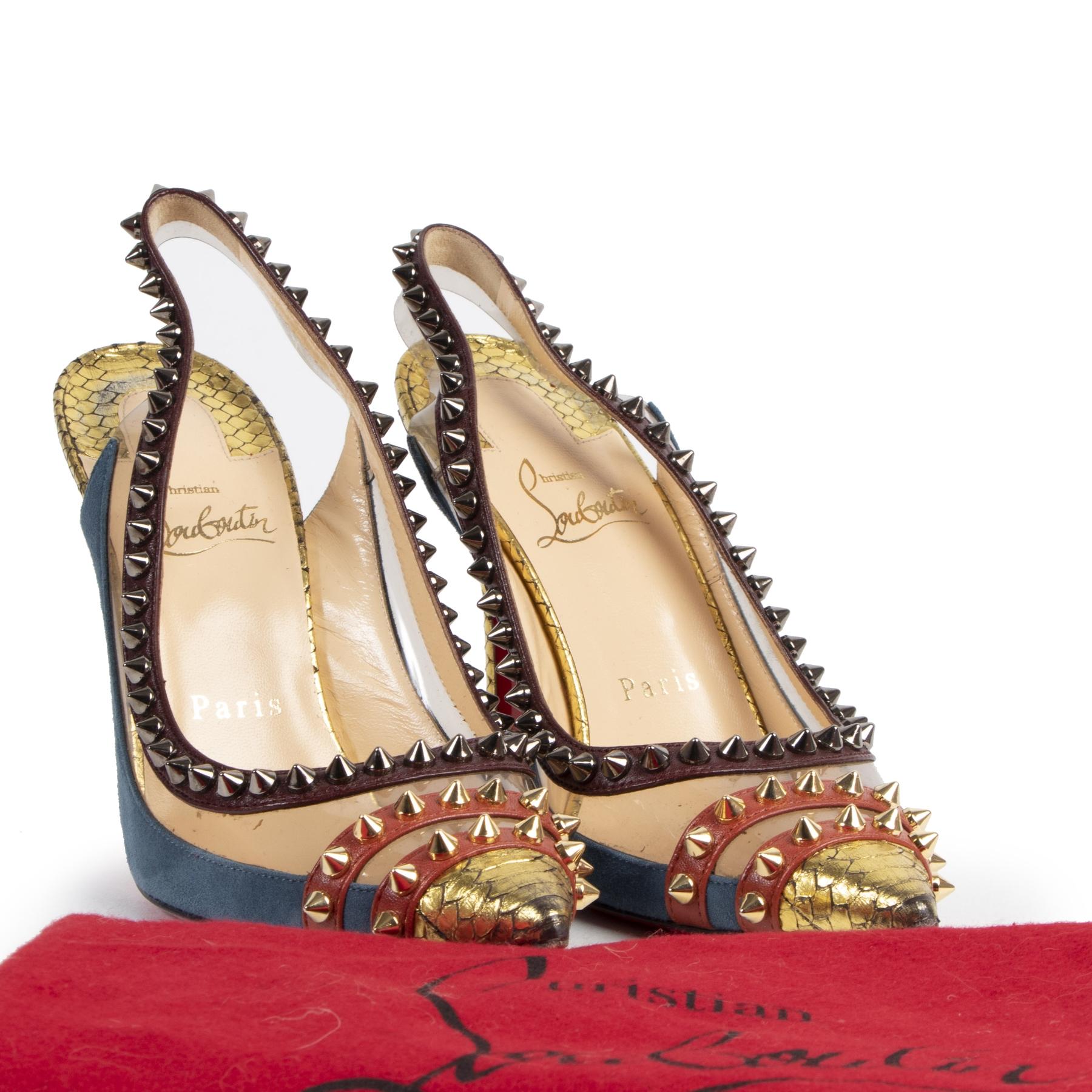 Authentic secondhand Christian Louboutin Multicolor Studded Heels - Size 36 designer bags fashion luxury vintage webshop safe secure online shopping high end designer brands