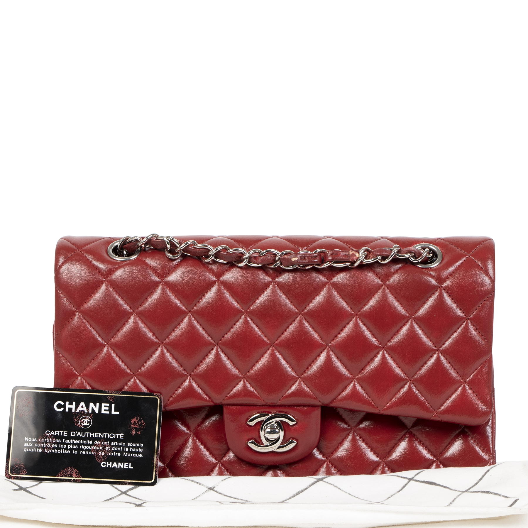 The webshop Labellov is selling Chanel Medium Classic Flap Bag / repainted for the best price at Labellov