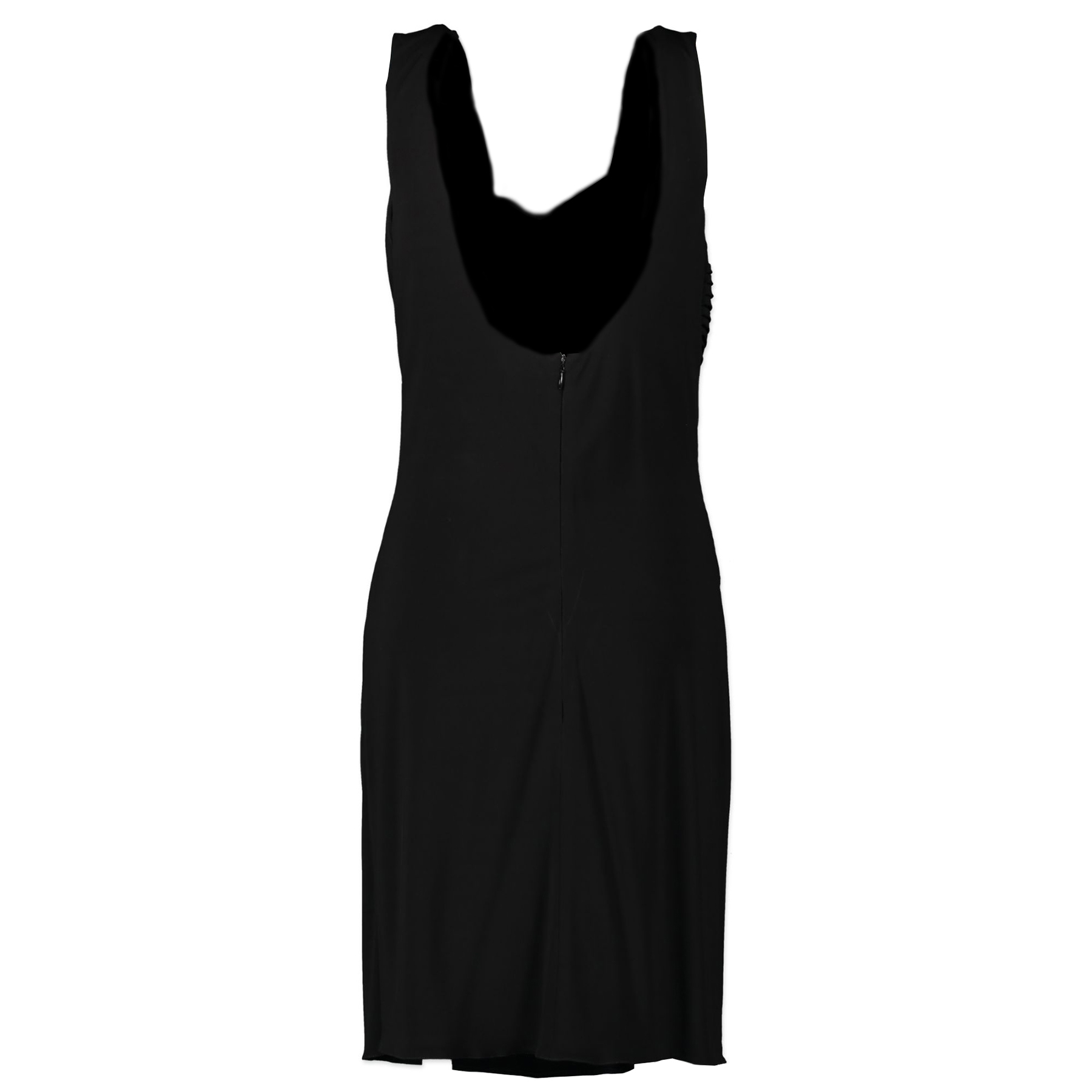 Authentieke Tweedehands Elie Saab Black Low Cut Bodycon Dress - Size 44 juiste prijs veilig online shoppen luxe merken webshop winkelen Antwerpen België mode fashion