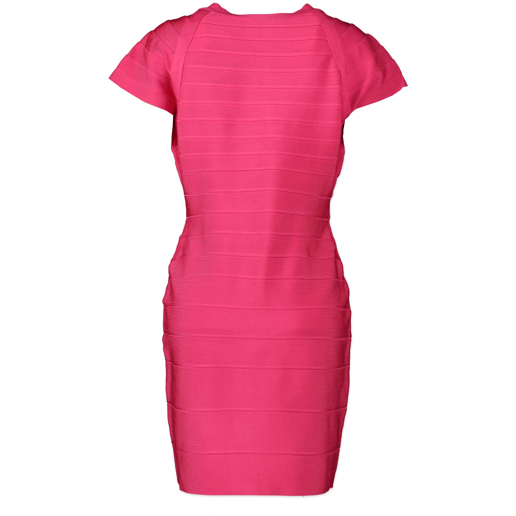 Herve Leger Hot Pink Zip Bodycon Bandage Dress
