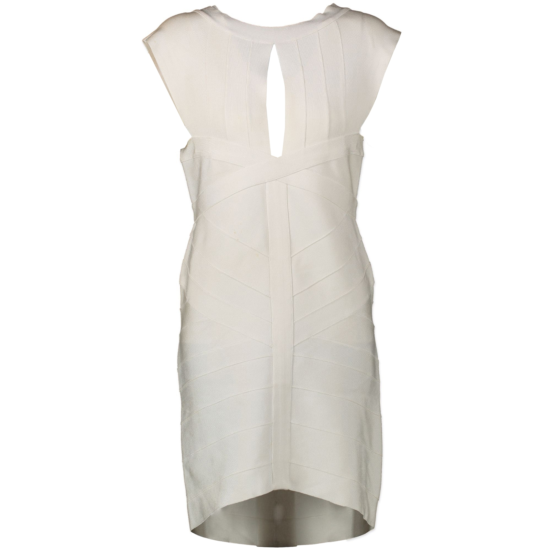 Herve Leger White Bandage Dress aan de beste prijs for the best price