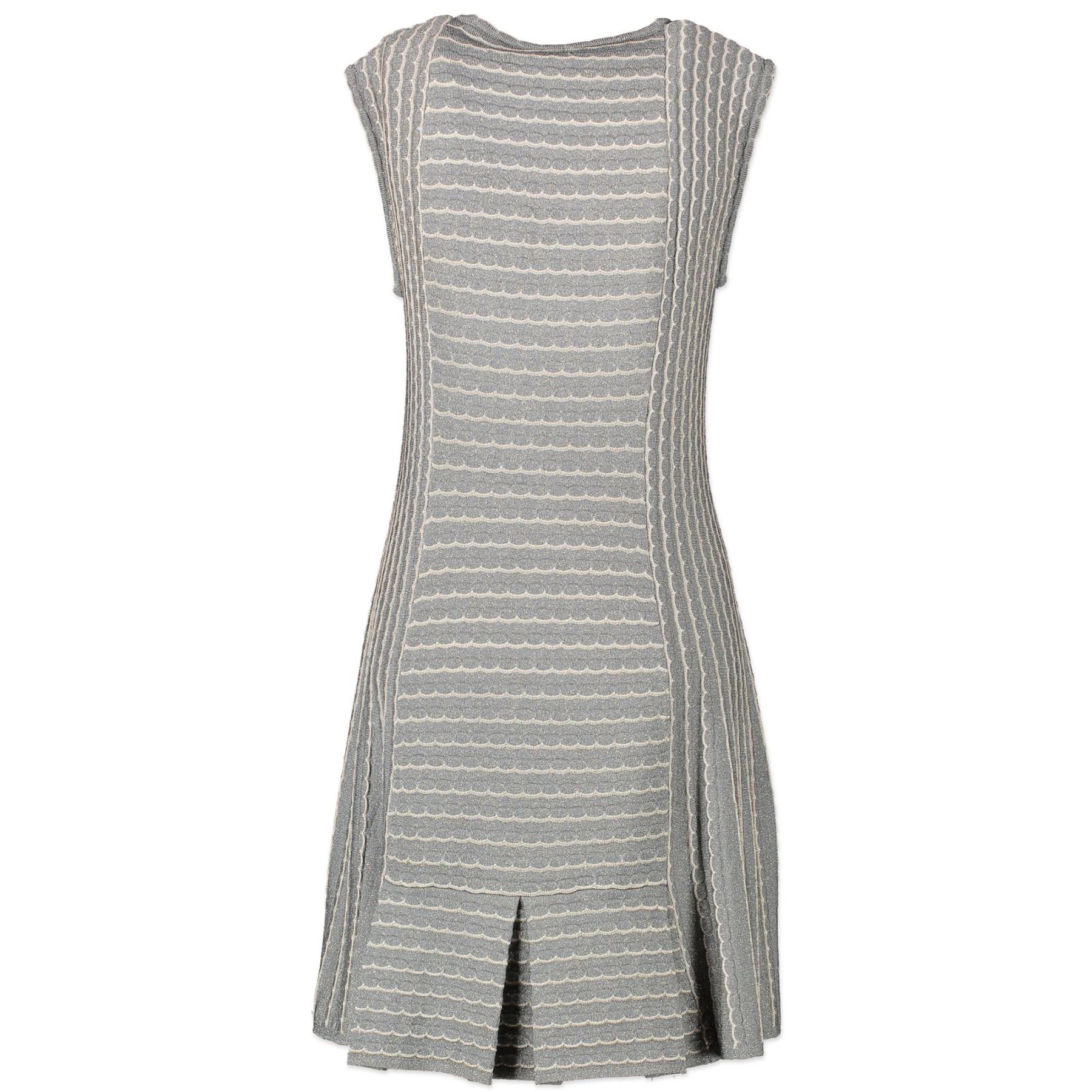 Authentieke Tweedehands M Missoni Wave Knit Sleeveless Dress - Size 44 juiste prijs veilig online shoppen luxe merken webshop winkelen Antwerpen België mode fashion