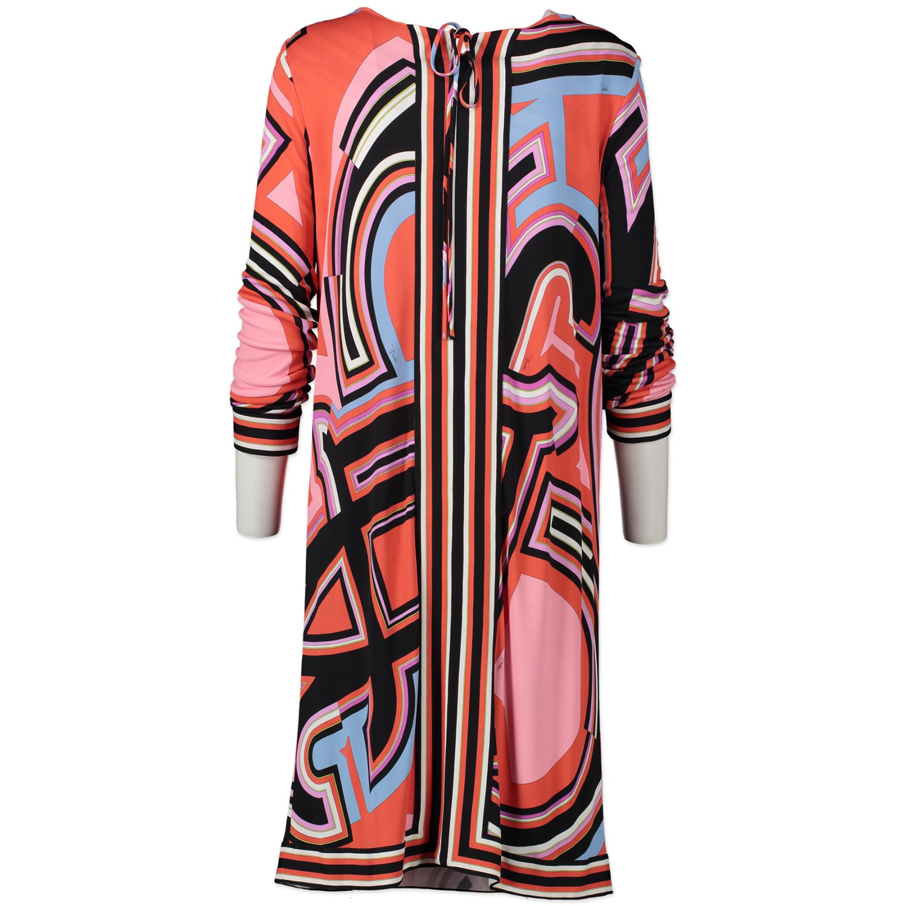 Authentic secondhand Emilio Pucci Red Pattern Print Dress - Size 42 designer clothing designer brands fashion luxury vintage webshop