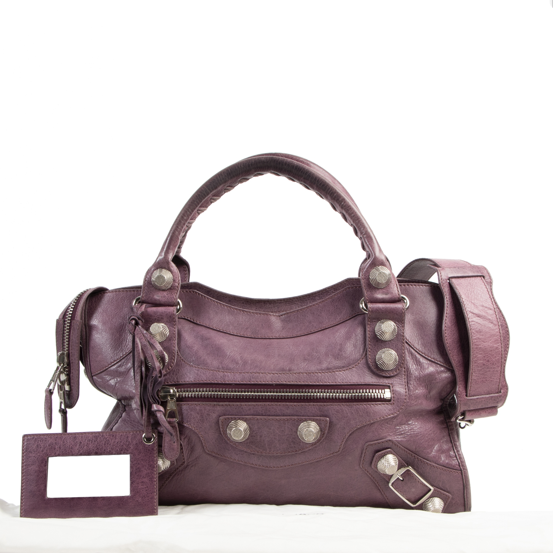 Balenciaga Purple Giant City PHW for the best price at Labellov secondhand luxury in Antwerp