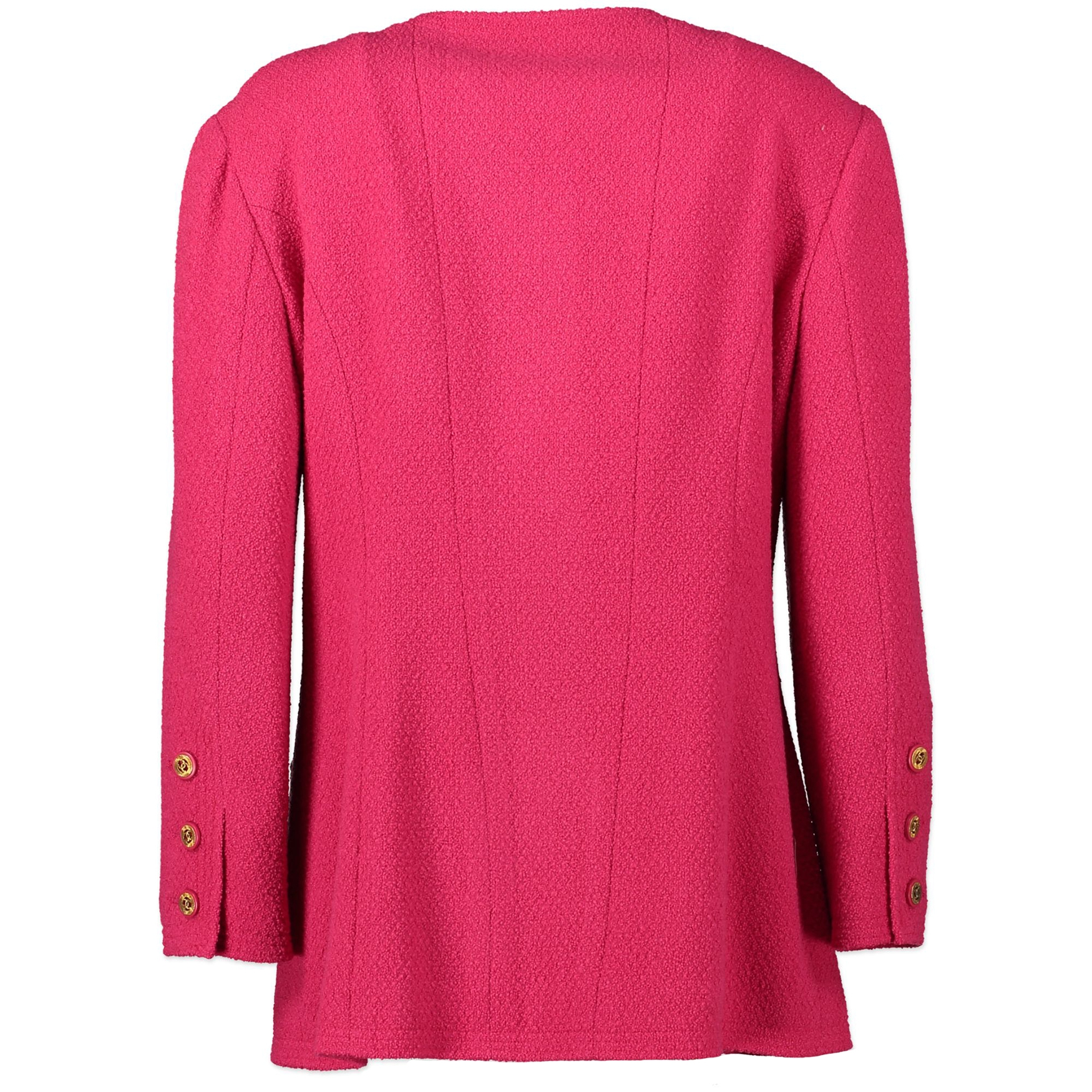 Chanel Fuschia Tweed Jacket - Size 40