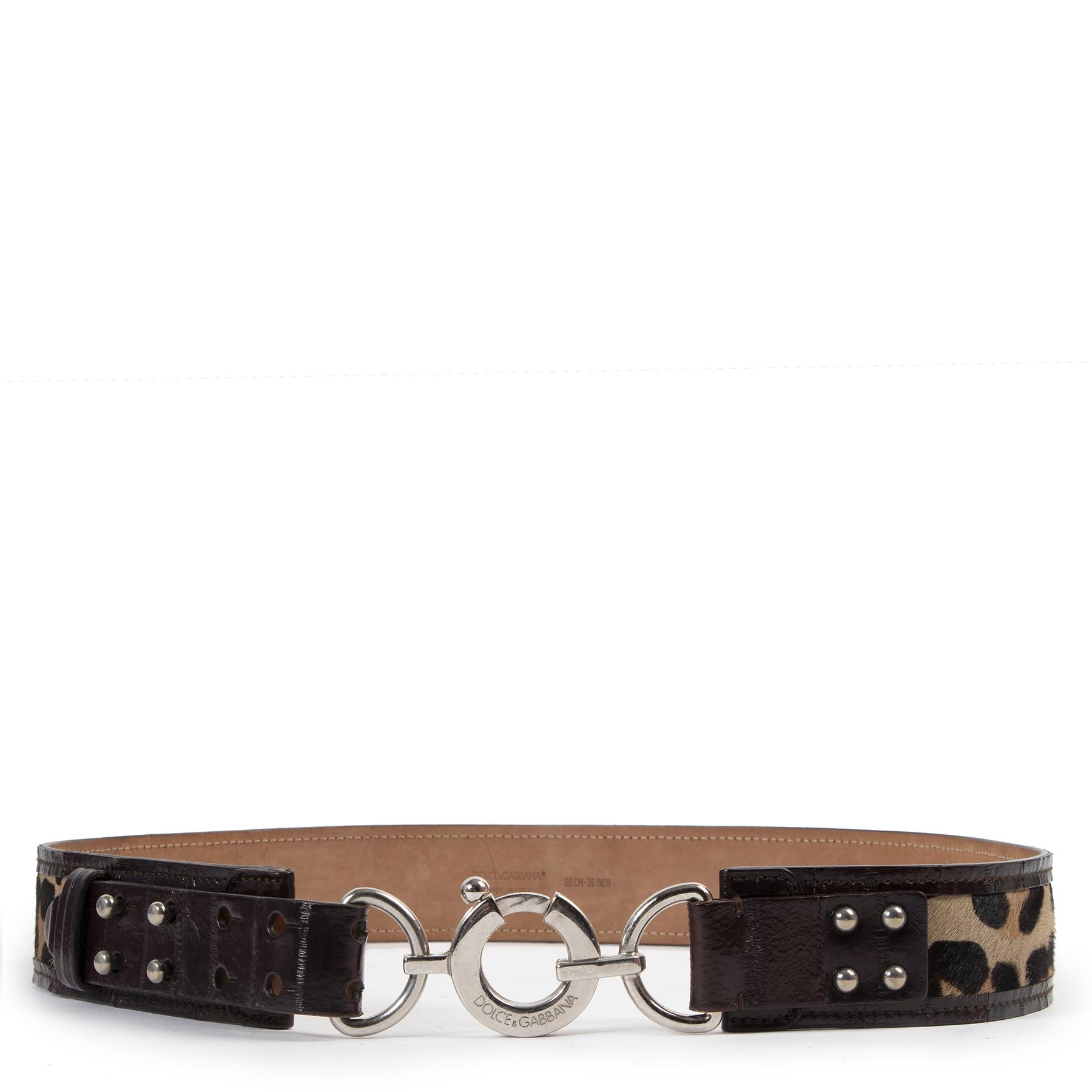 Dolce & Gabbana Leopard Buckle Belt pour le meilleur prix chez Labellov à Anvers
