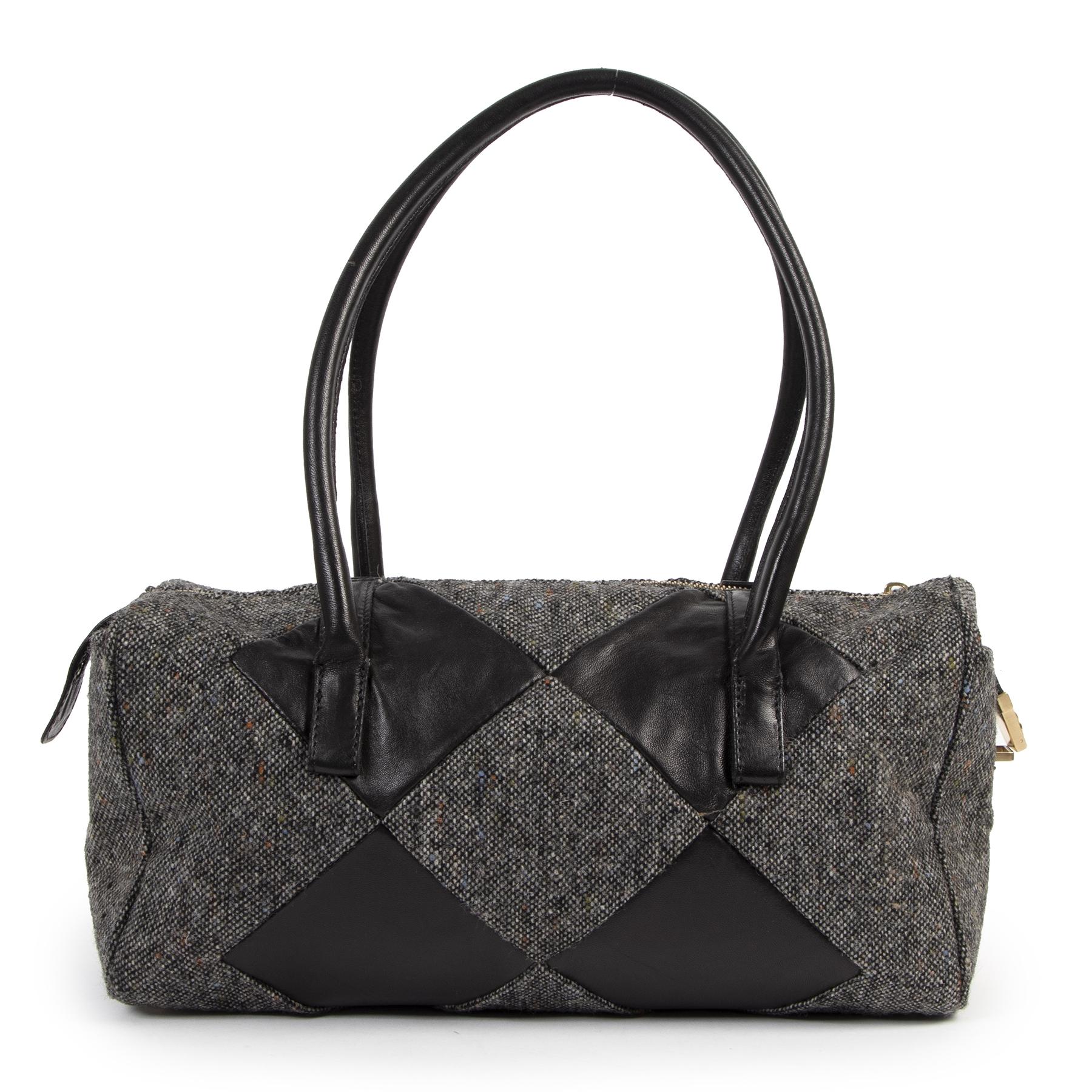Authentic secondhand Bottega Veneta Dark Gray Shoulder Bag designer bags fashion designer brands luxury vintage webshop safe secure online shopping