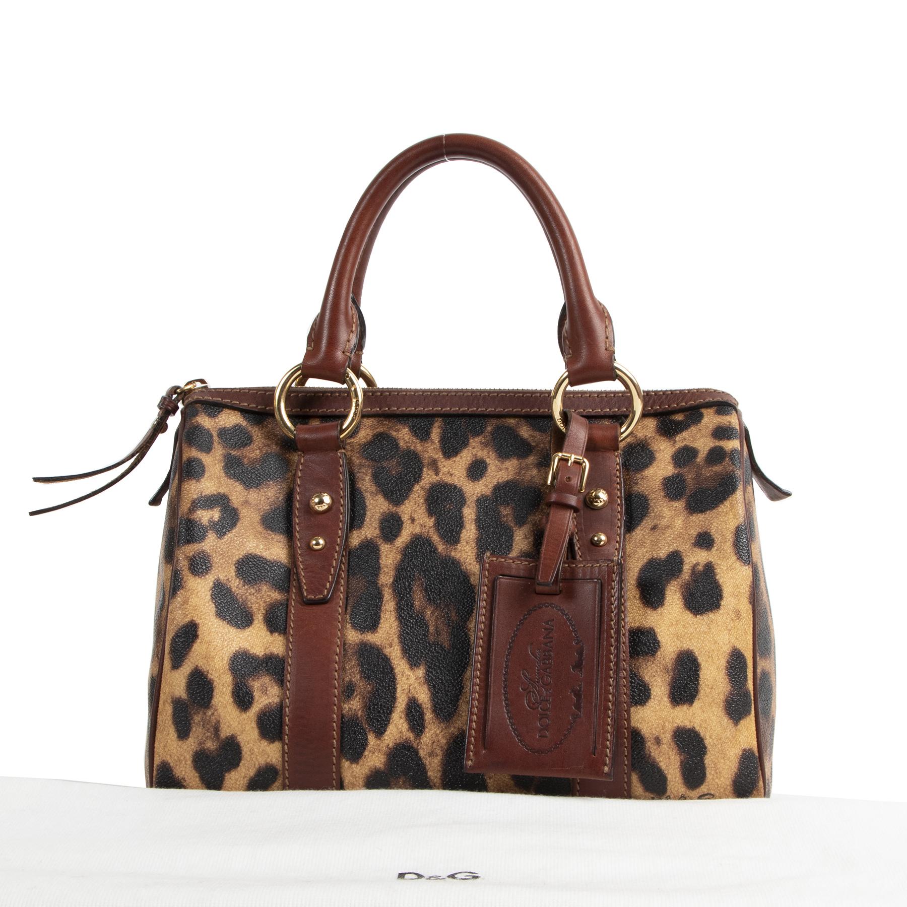 skip the waiting list Dolce & Gabbana Leopard Boston Bag