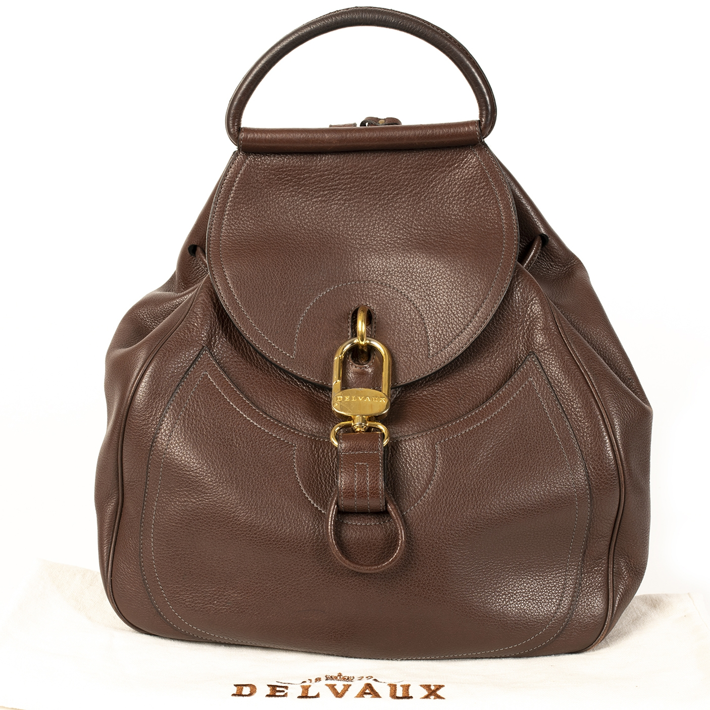 Delvaux Brown Lucifer GM Backpack