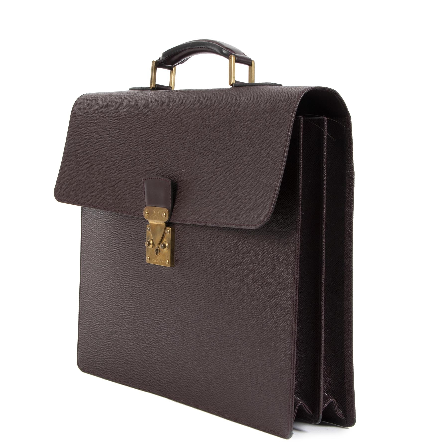 Authentieke tweedehands vintage Louis Vuitton Moskova Acajou Briefcase koop online webshop LabelLOV