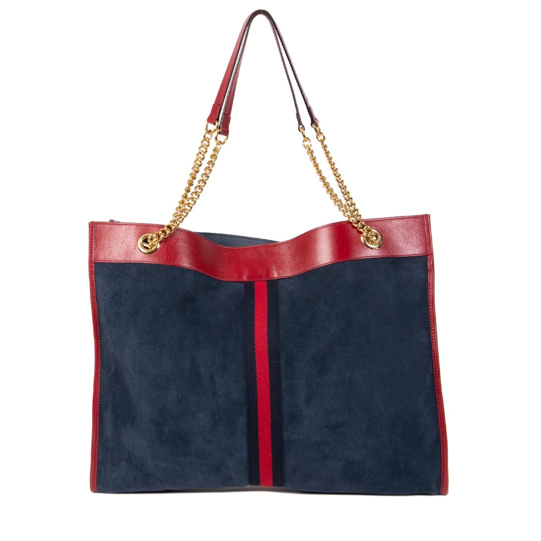 Authentieke tweedehands vintage Gucci Rajah Large Tote Bag koop online webshop LabelLOV