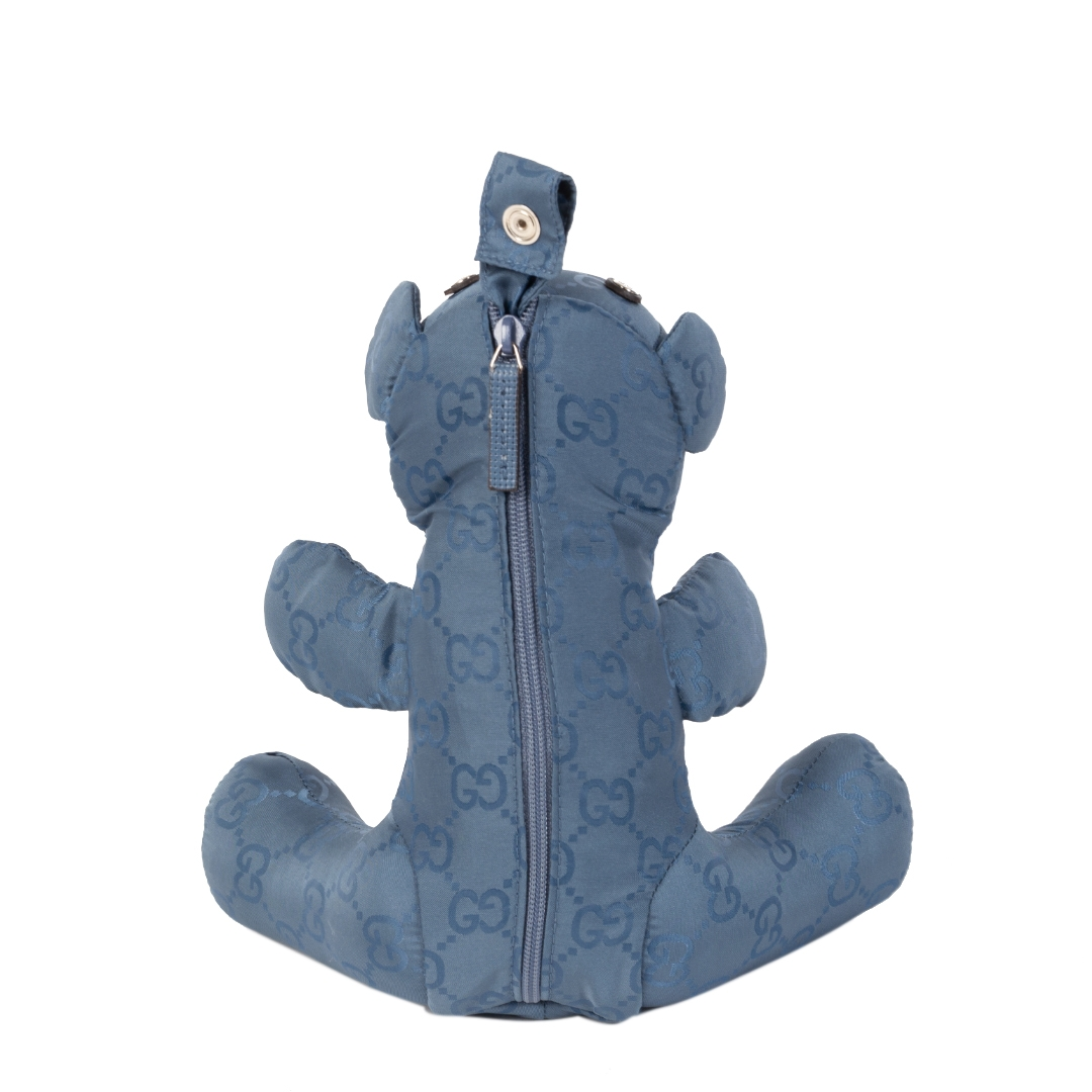 shop safe online your secondhand Gucci Blue Teddy Bear Nylon Tote