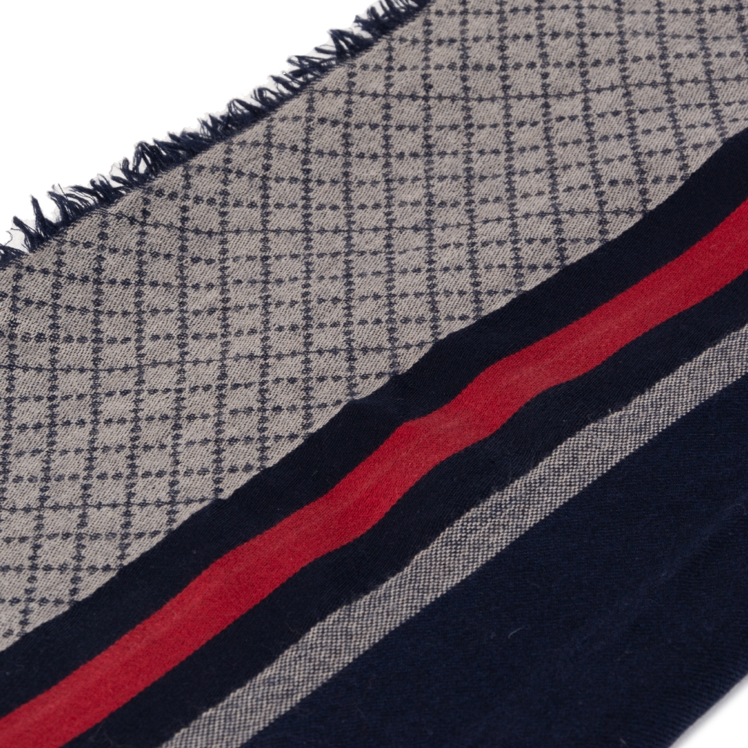 acheter en ligne seconde main Gucci Web Silk/Wool Scarf