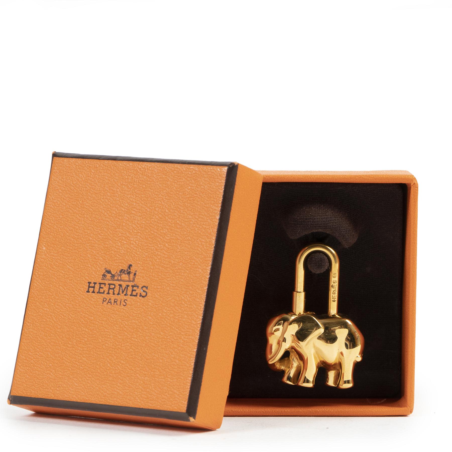 Hermès Elephant Charm GHW aan de beste prijs bij Labellov tweedehands luxe in Antwerpen