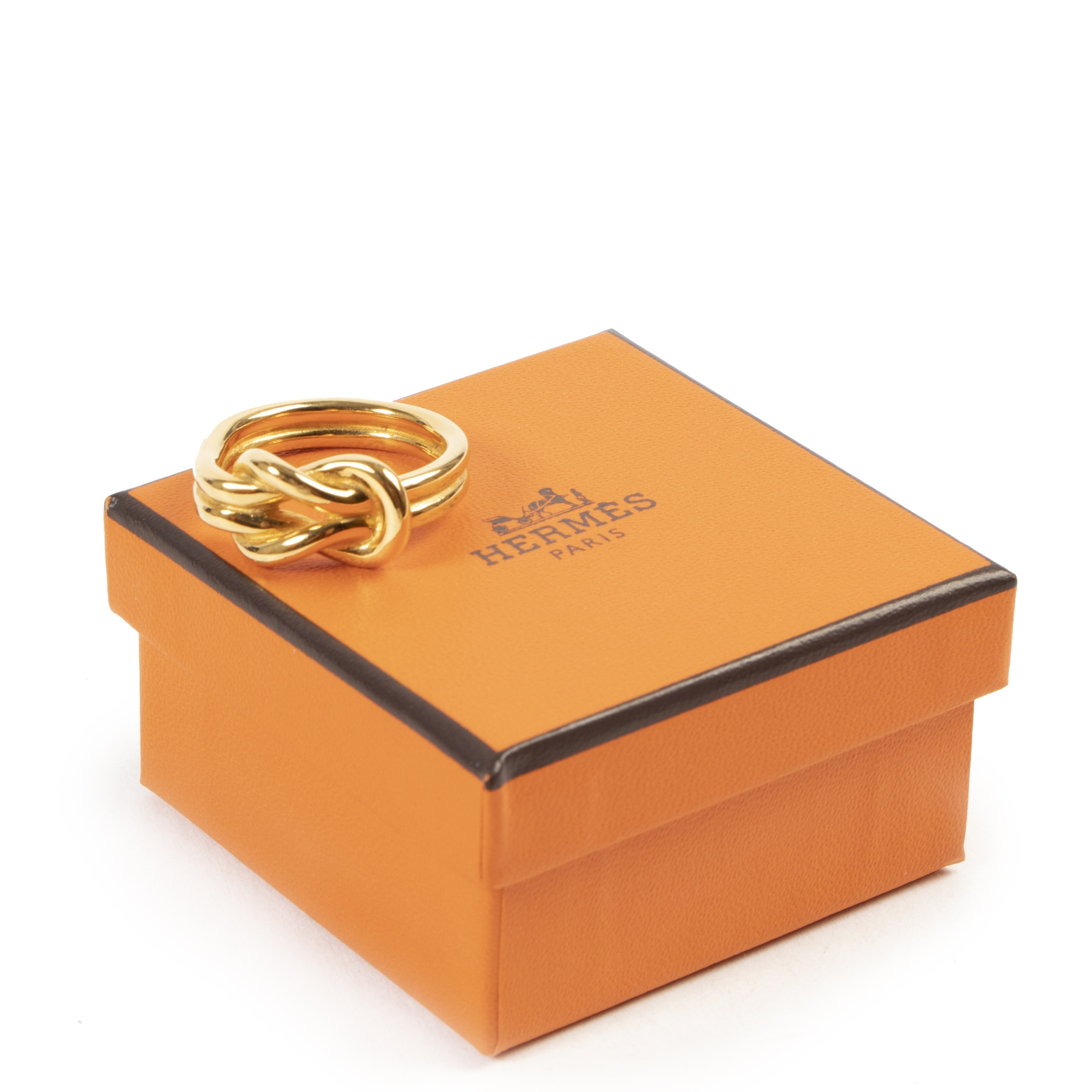 Hermès Gold Knot Scarf Ring kopen en verkopen aan de beste prijs