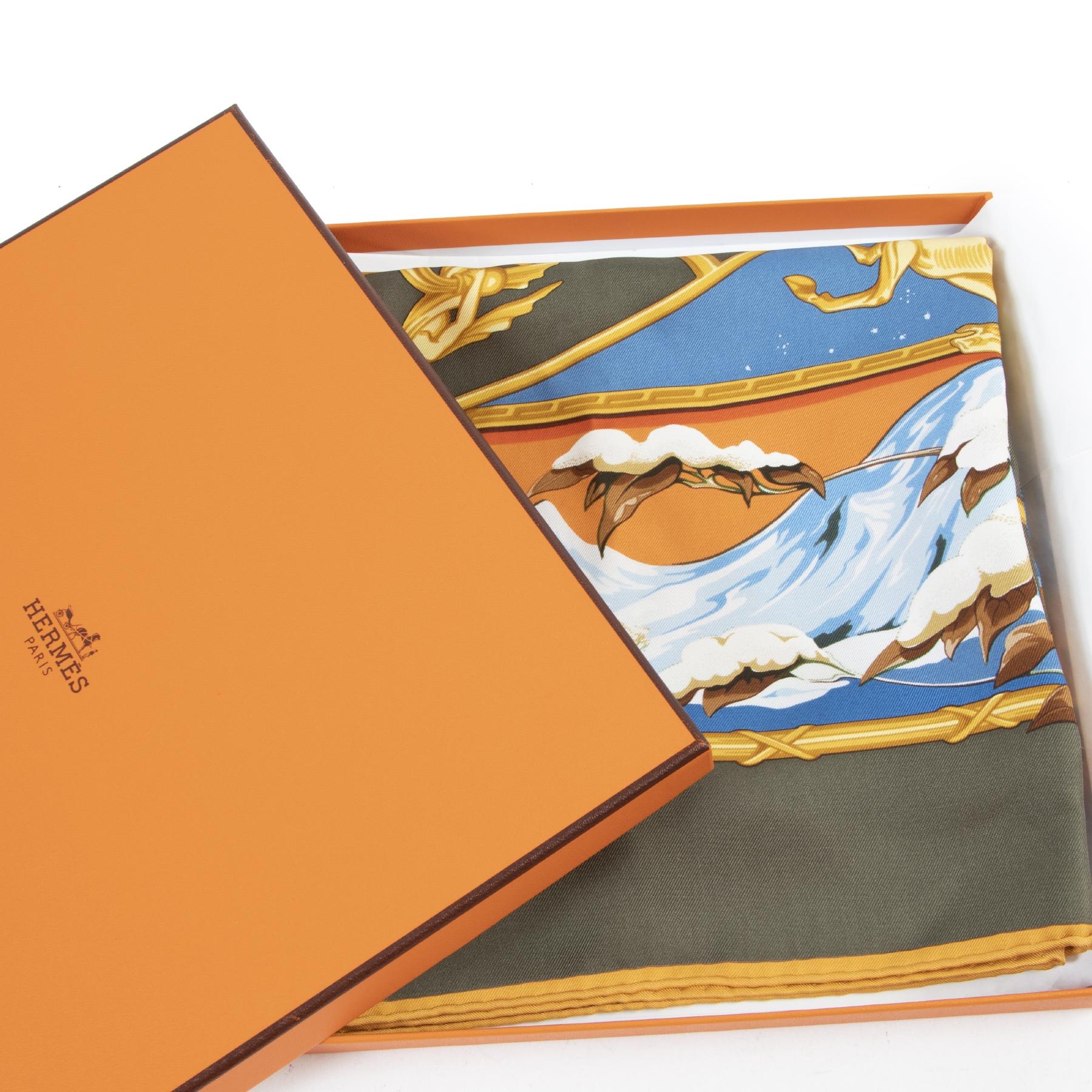 Authentieke Tweedehands Hermes Rythmes Du Monde Silk Scarf  juiste prijs veilig online shoppen luxe merken webshop winkelen Antwerpen België mode fashion