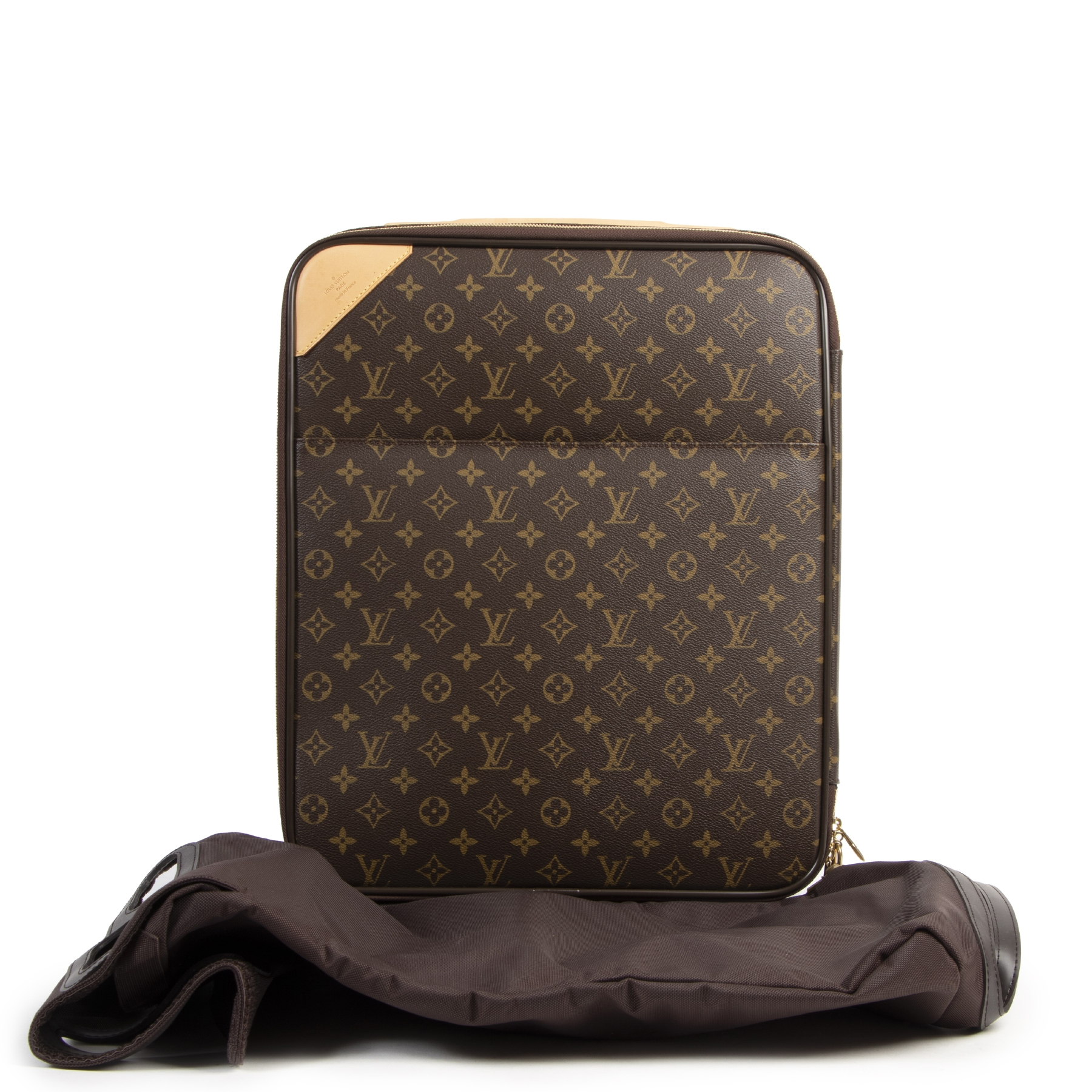 Authentieke tweedehands vintage Louis Vuitton Pégase 45 Monogram Suitcase koop online webshop LabelLOV