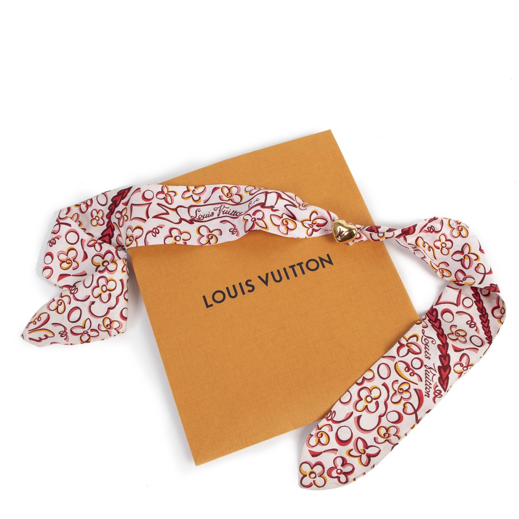 Authentieke Tweedehands Louis Vuitton Pink Bandeau Heart Jewel juiste prijs veilig online shoppen luxe merken webshop winkelen Antwerpen België mode fashion