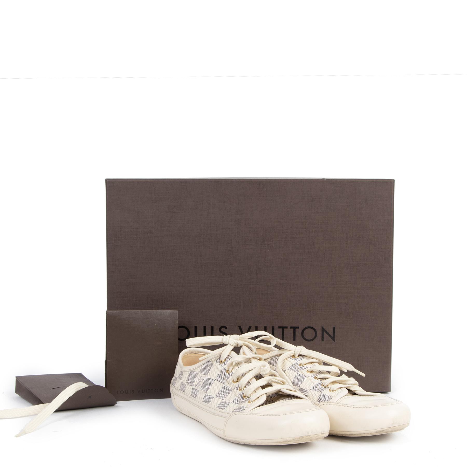 Authentic second-hand vintage Louis Vuitton Damier Azur Sneakers - Size 40 buy online webshop LabelLOV
