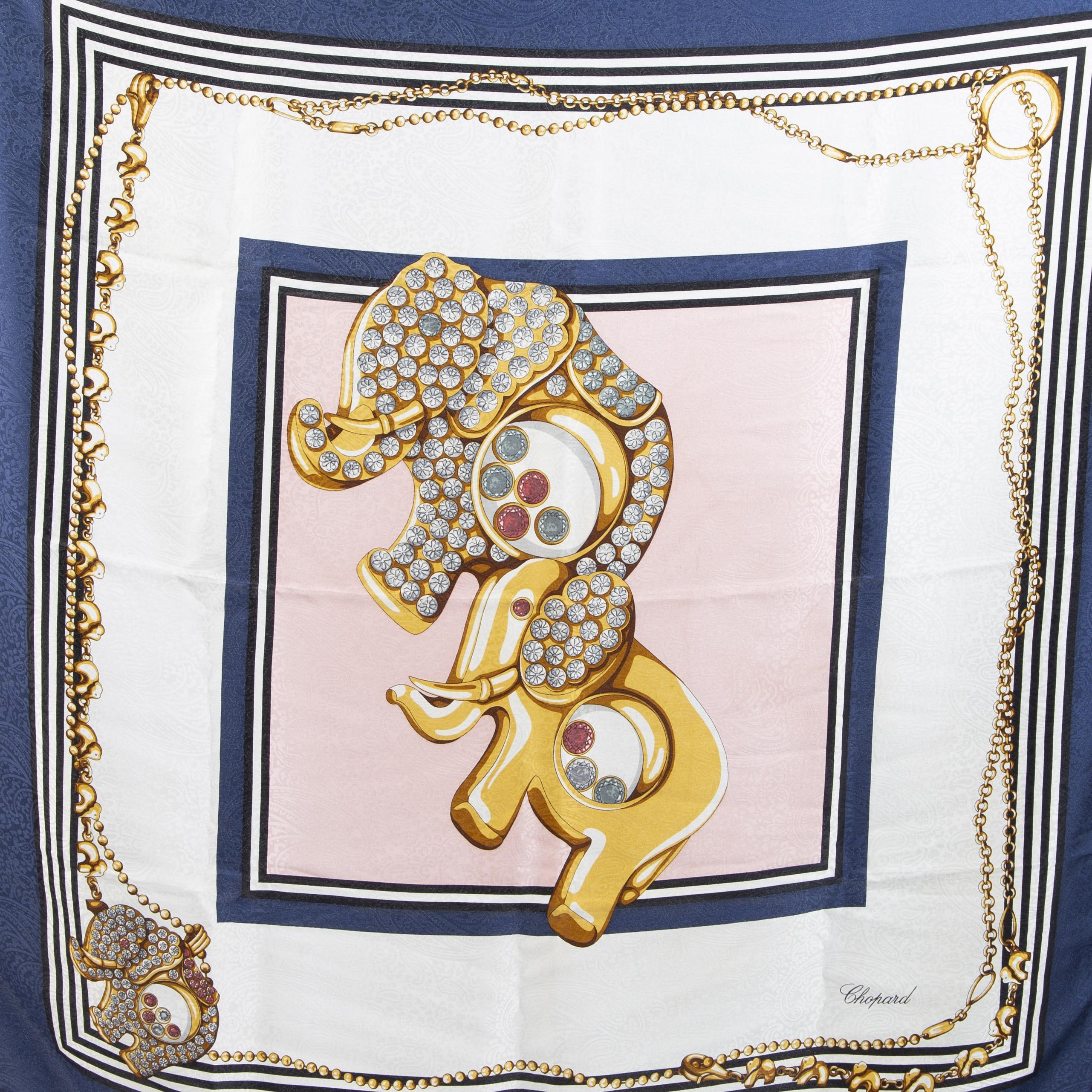 Authentieke Tweedehands Chopard Elephant Silk Scarf juiste prijs veilig online shoppen luxe merken webshop winkelen Antwerpen België mode fashion