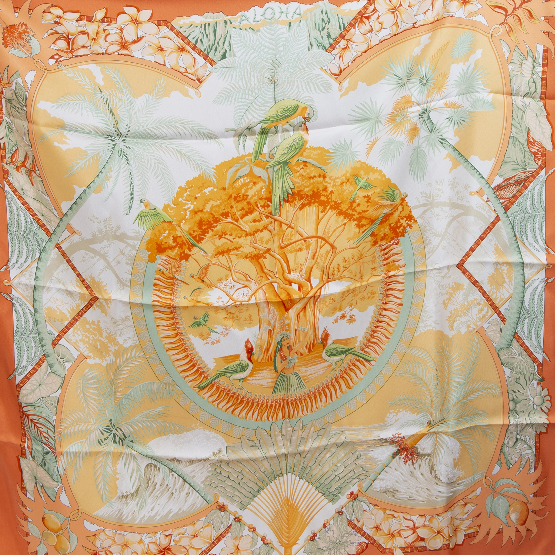Authentieke Tweedehands Hermès SIlk Carré Scarf