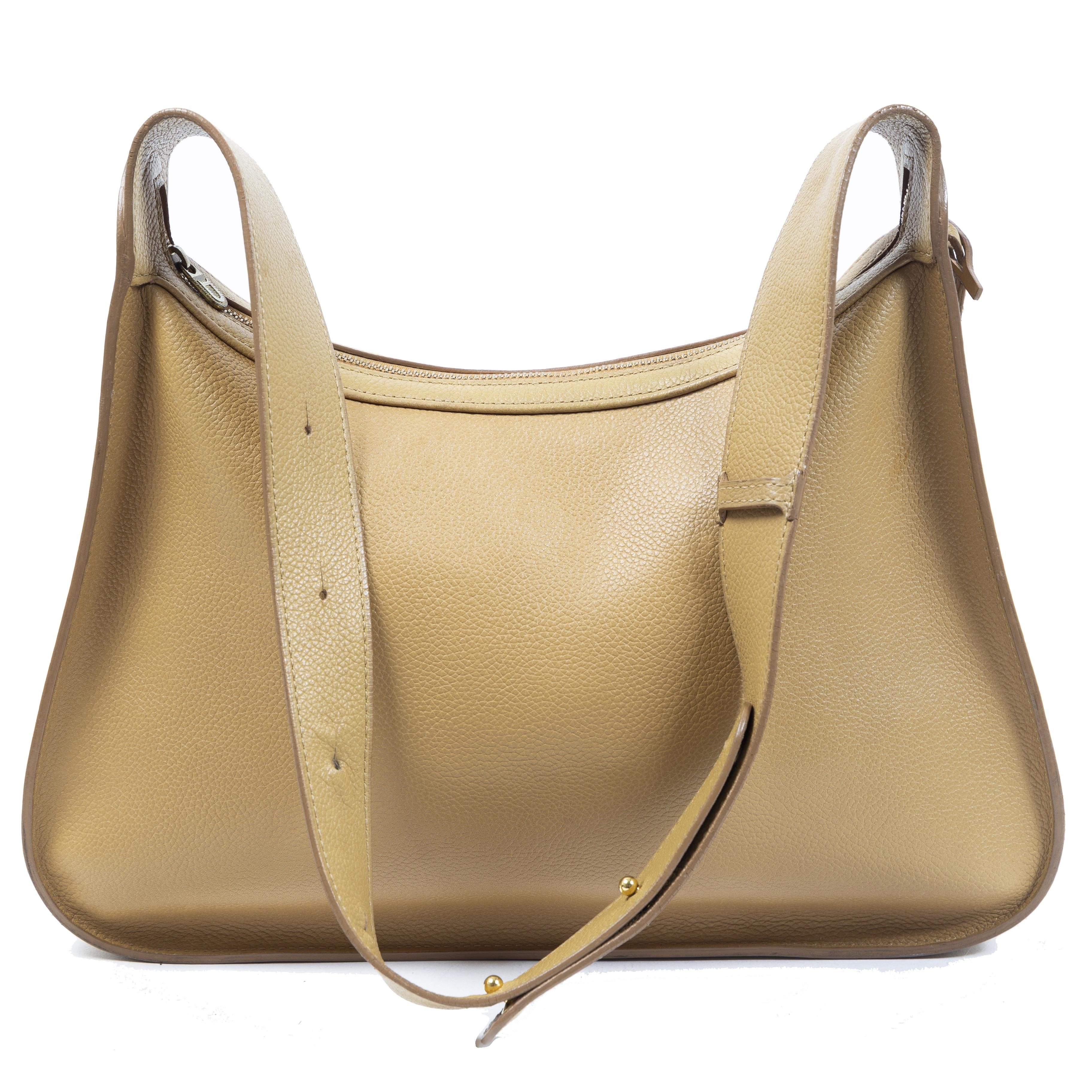 Authentieke Tweedehands Delvaux Yellow Shoulder Bag juiste prijs veilig online shoppen luxe merken webshop winkelen Antwerpen België mode fashion