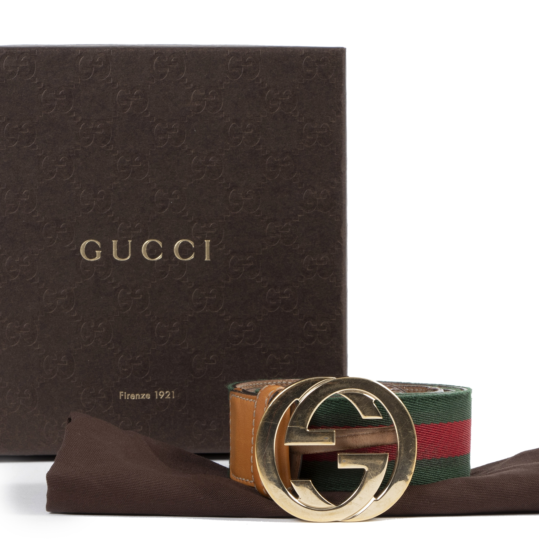 Gucci Web Belt - size 90 100% authentic for the best price at Labellov