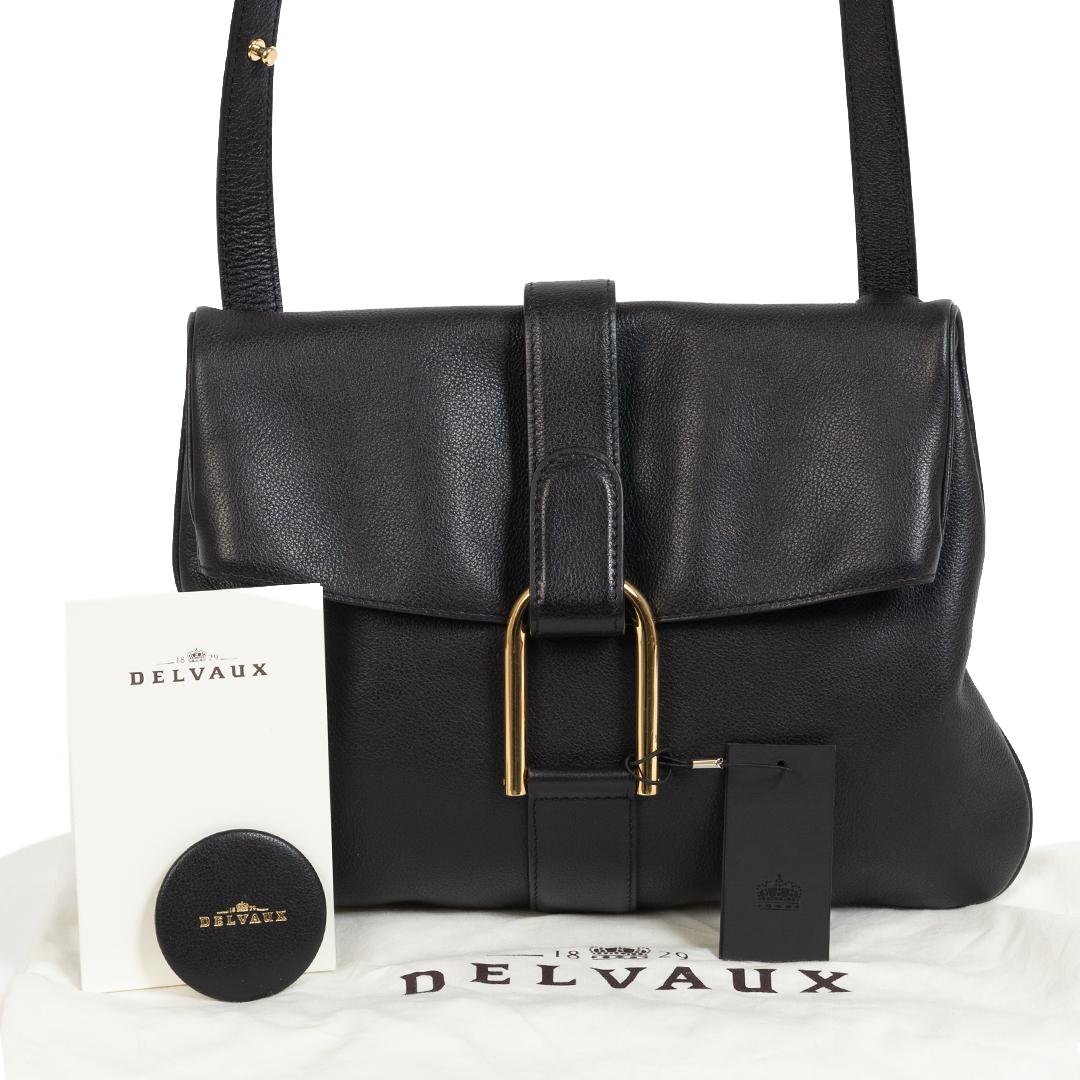 Delvaux Black Givry Crossbody Bag te koop