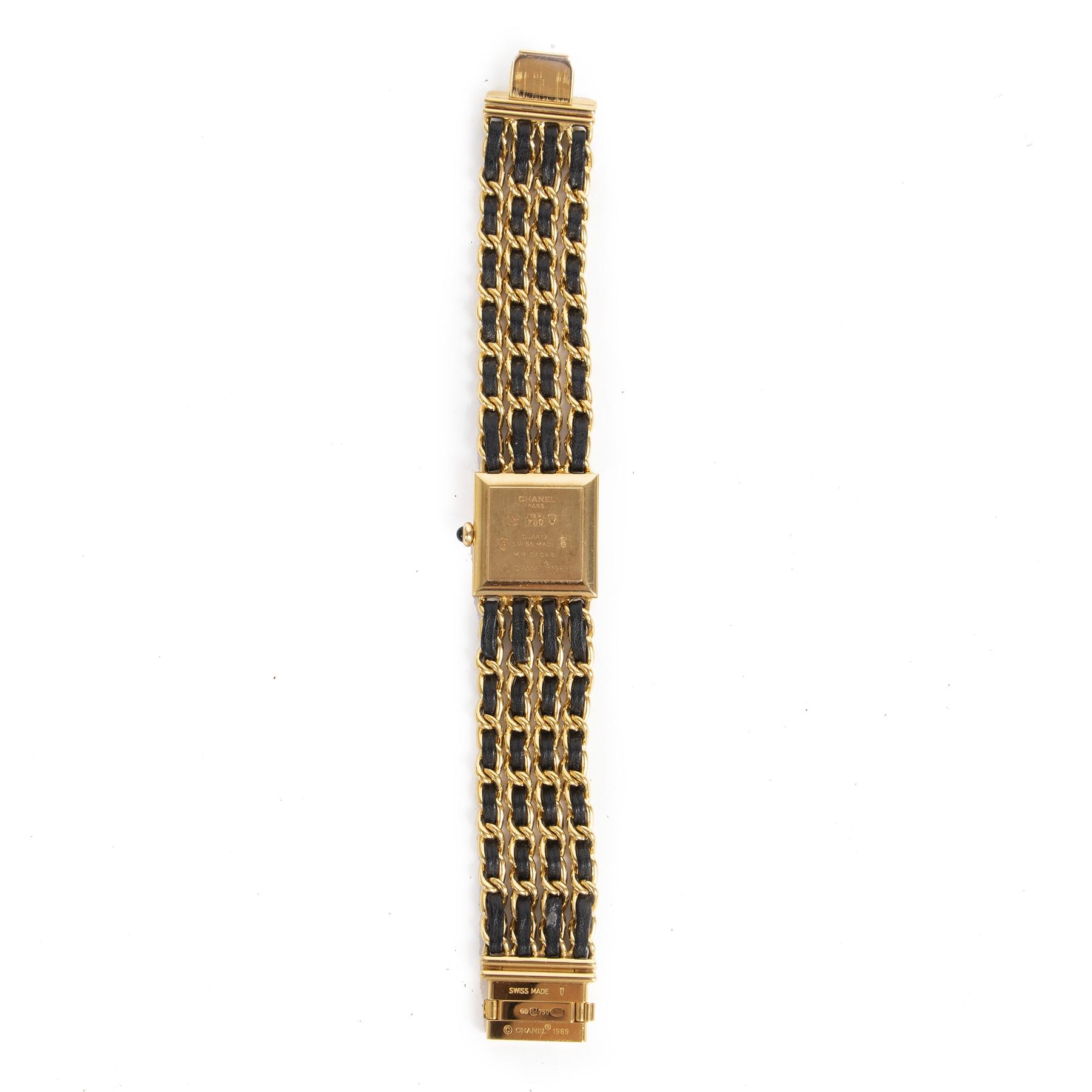 Koop en verkoop uw authentieke designer Chanel Woven Chain Mademoiselle 18K Watch