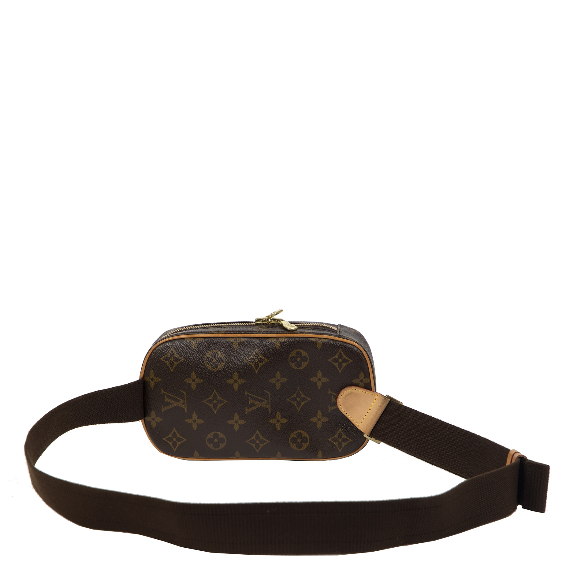 We  buy and sell your authentic Louis Vuitton Monogram Pochette Gange Belt Bag