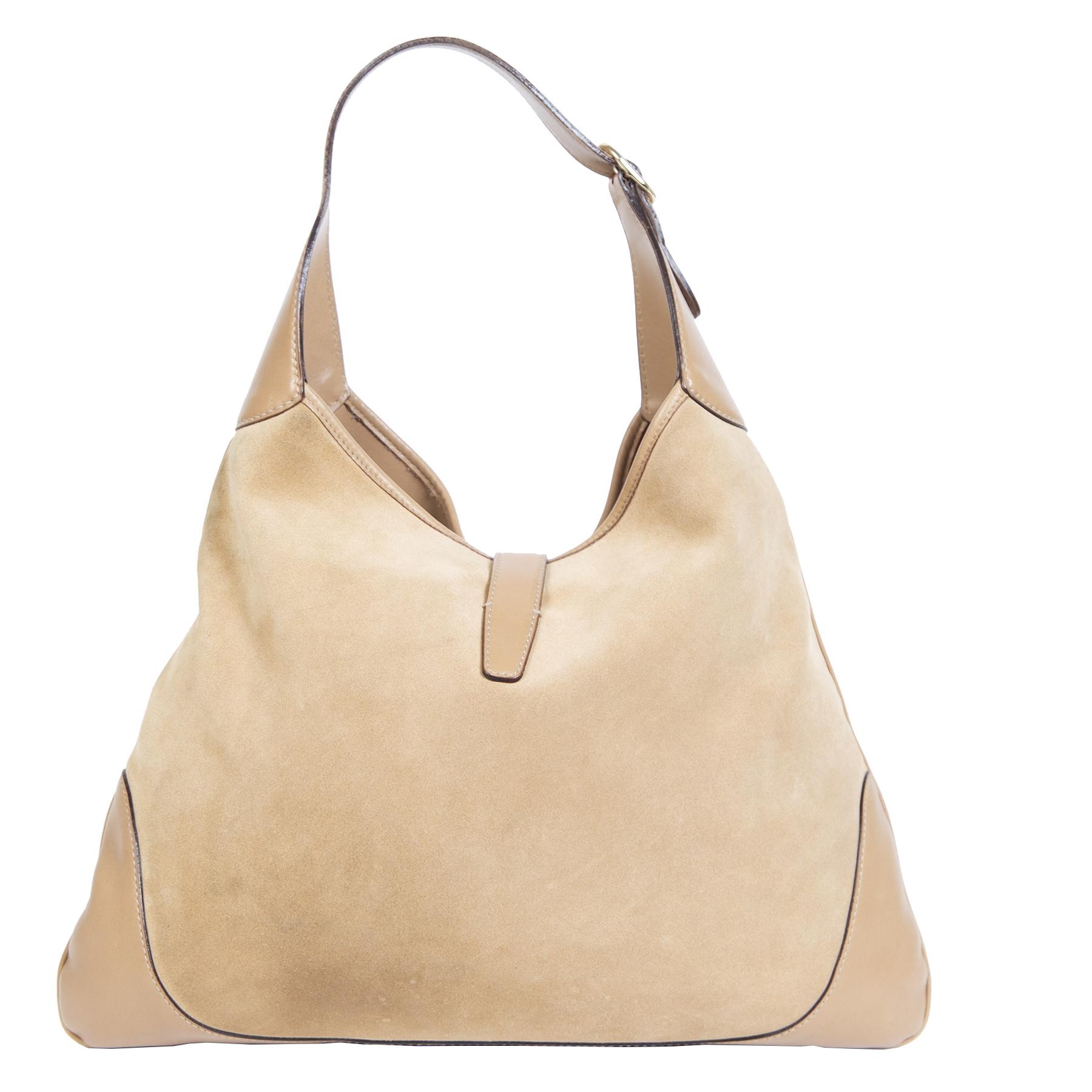 Authentieke Tweedehands Gucci Jackie Suede Hobo Bag juiste prijs veilig online shoppen luxe merken webshop winkelen Antwerpen België mode fashion