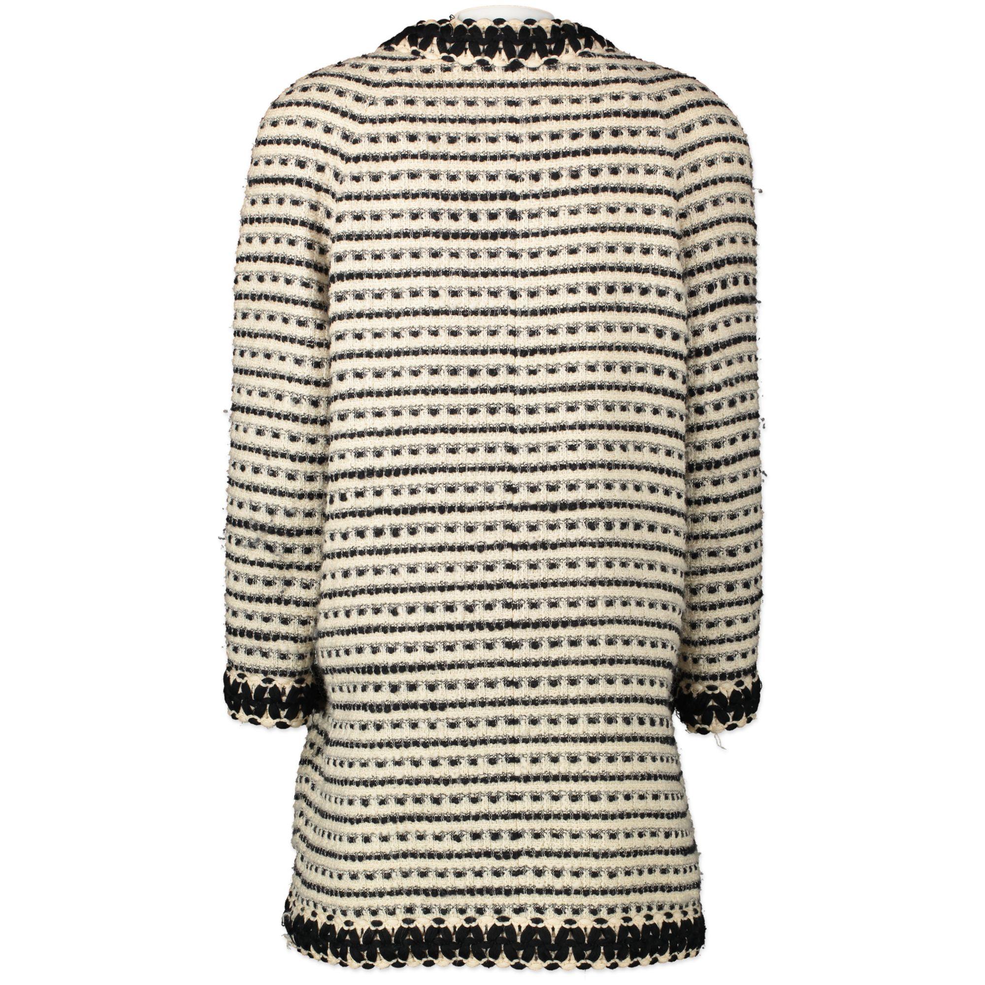 Bent u op zoek naar een authentieke designer Chanel Wool Longline Cardigan