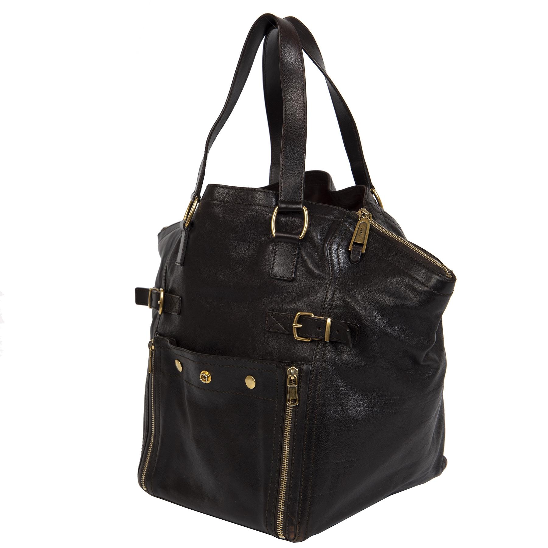 Yves Saint Laurent Brown Downtown Shoulder Bag kopen en verkopen aan de beste prijs