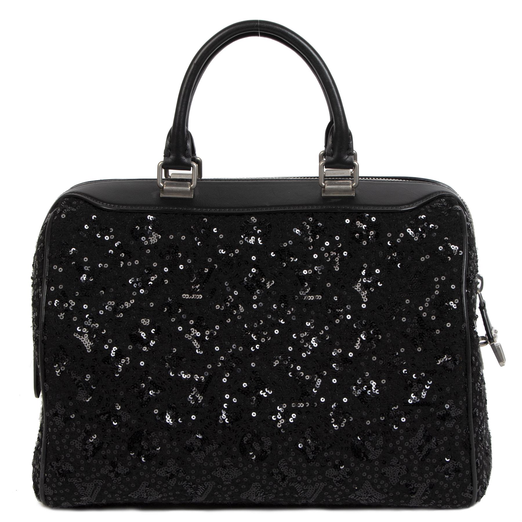 Authentieke Tweedehands Louis Vuitton Wooly Black Speedy Sunshine Express juiste prijs veilig online shoppen luxe merken webshop winkelen Antwerpen België mode fashion