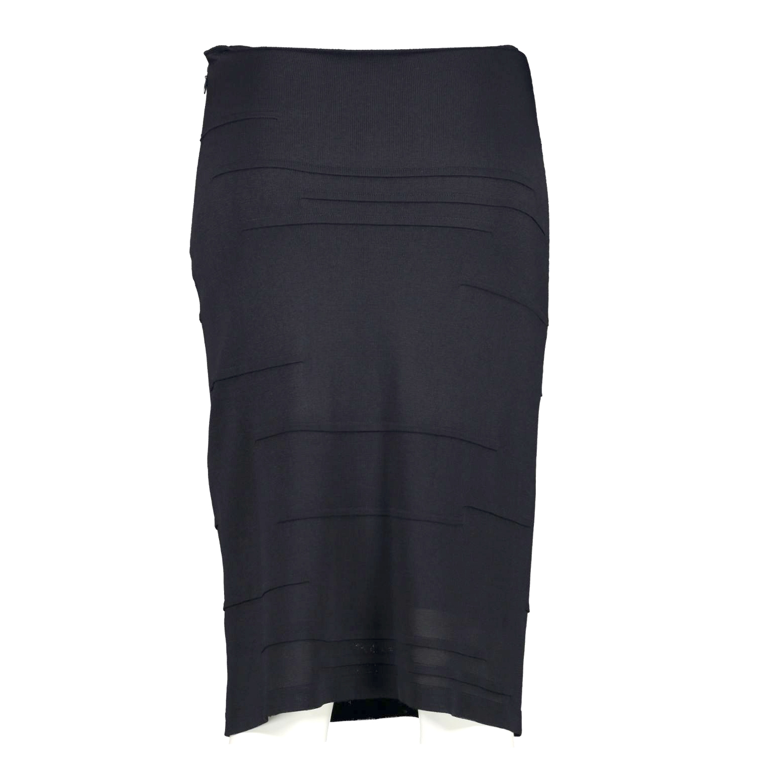 Chanel Blue Pencil Skirt - Size 36 we buy and sell your authentic designer bags online at Labellov