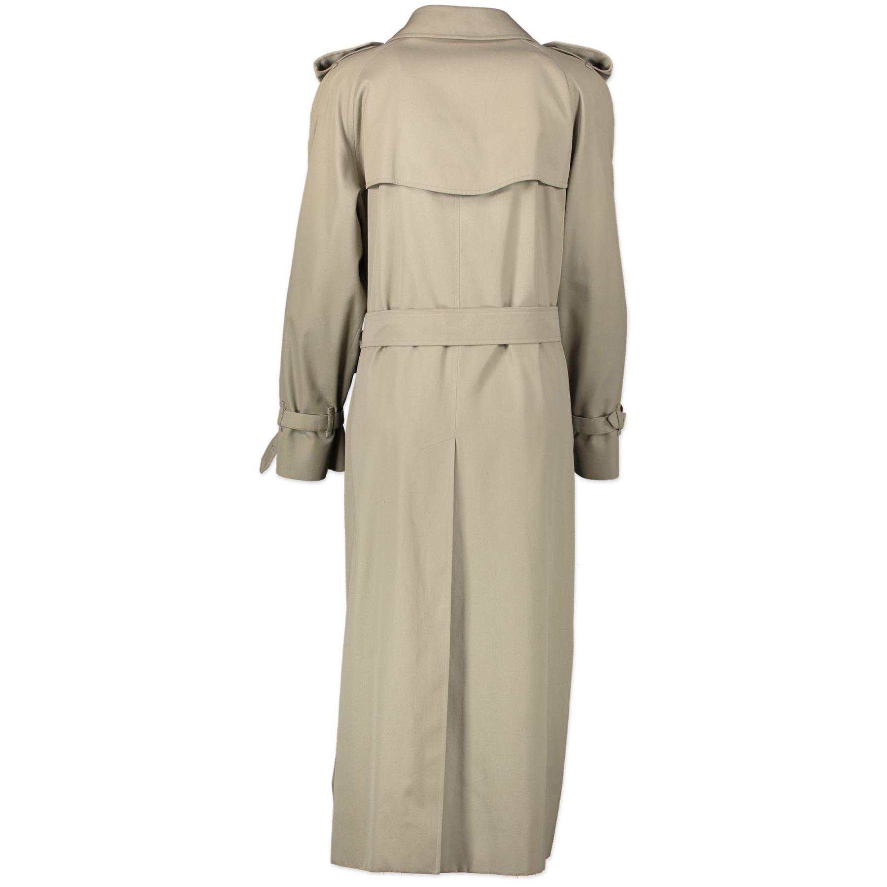 Authentieke Tweedehands Burberry Beige Trench Coat - Size UK12 juiste prijs veilig online shoppen luxe merken webshop winkelen Antwerpen België mode fashion