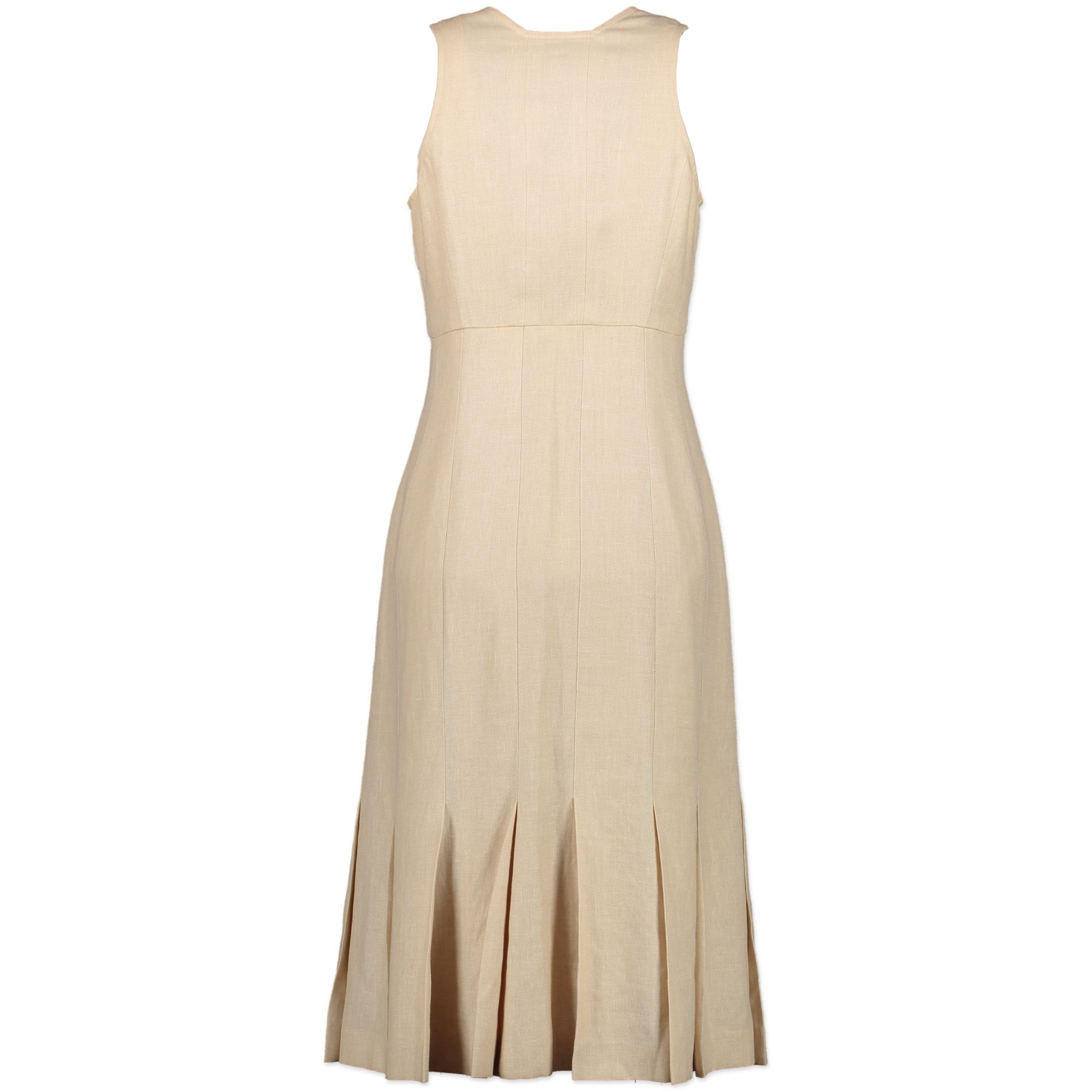 Chanel Sandy Beige Linen Dress - Size 36