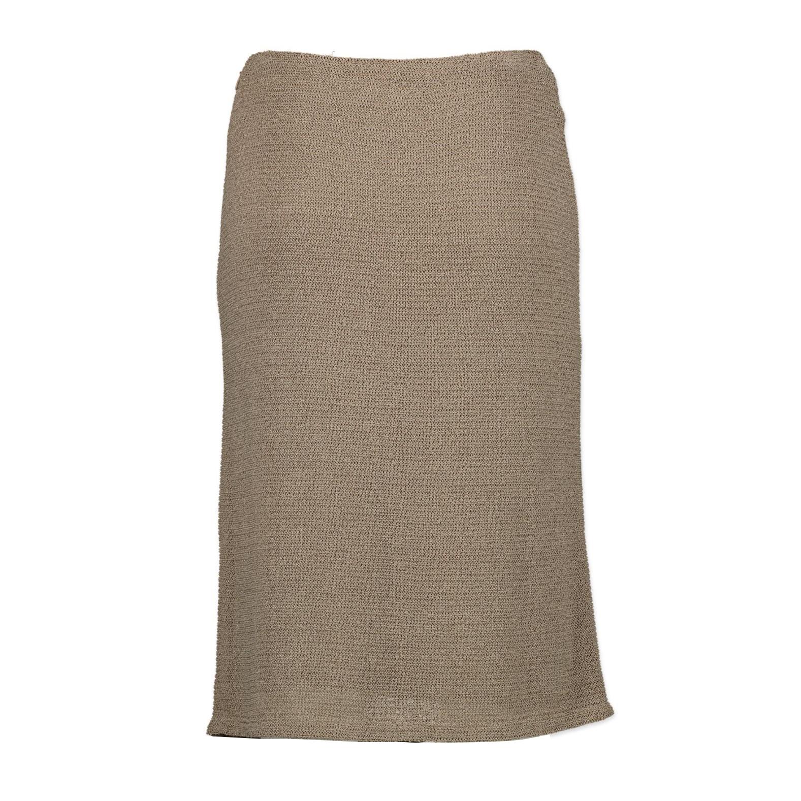 Chanel Beige Pencil Skirt kopen aan de beste prijs bij Labellov tweedehands luxe