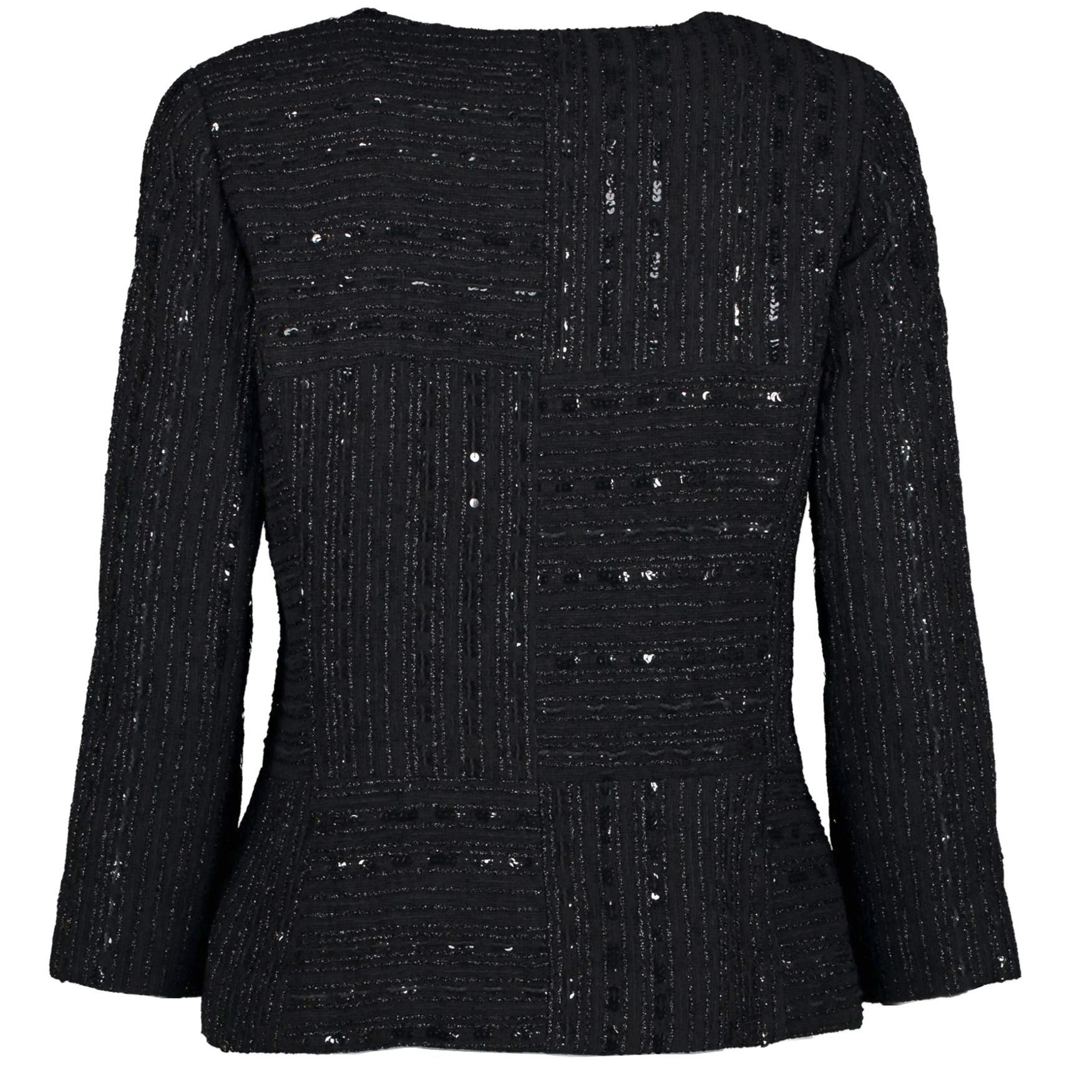 We buy and sell your authentic designer Chanel Black Sequin and Nylon Jacket for the best price