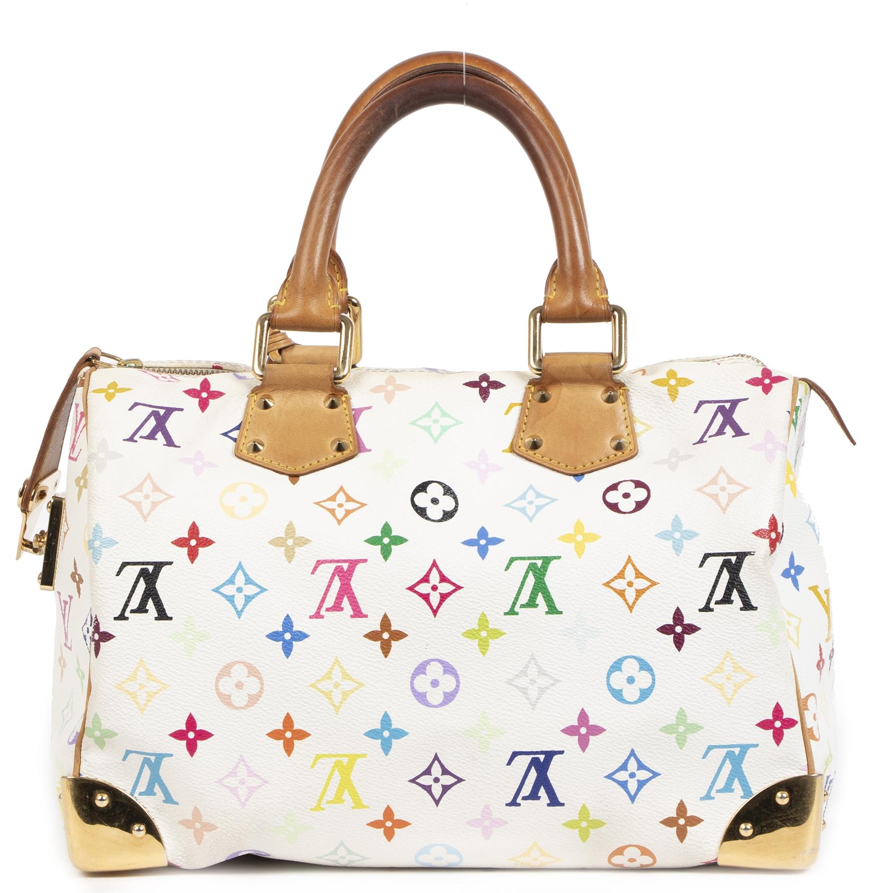 Authentieke Tweedehands Louis Vuitton Murakami Monogram Multicolor Speedy City Bag juiste prijs veilig online shoppen luxe merken webshop winkelen Antwerpen België mode fashion