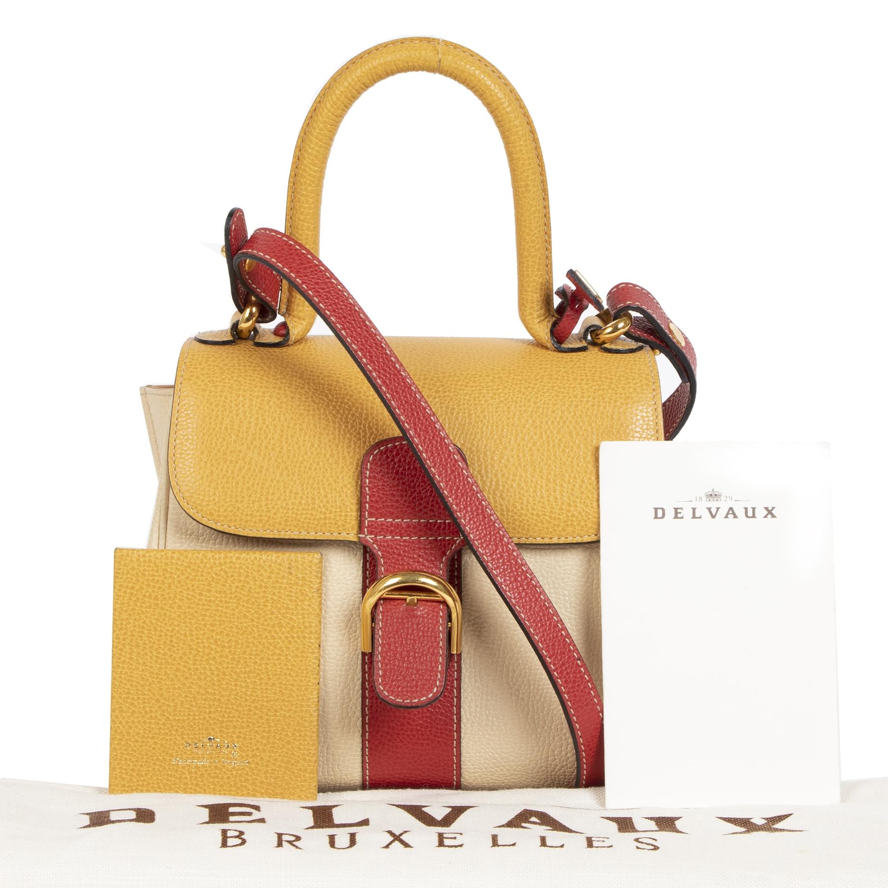 koop en verkoop  Delvaux Brillant Tricolor Jumping Mini + Strap aan de beste prijs online