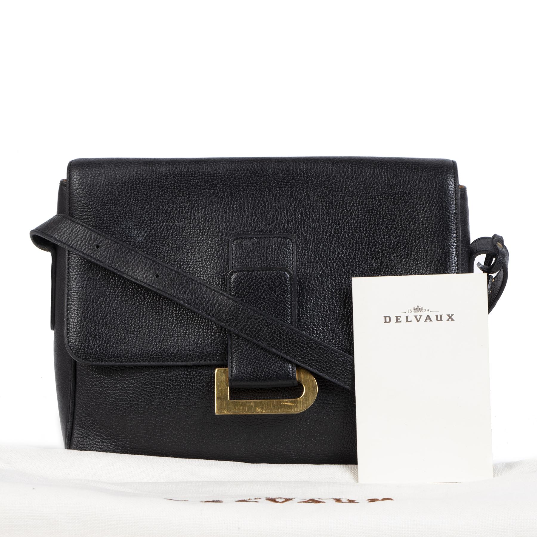 Delvaux Black Poirier Crossbody Bag