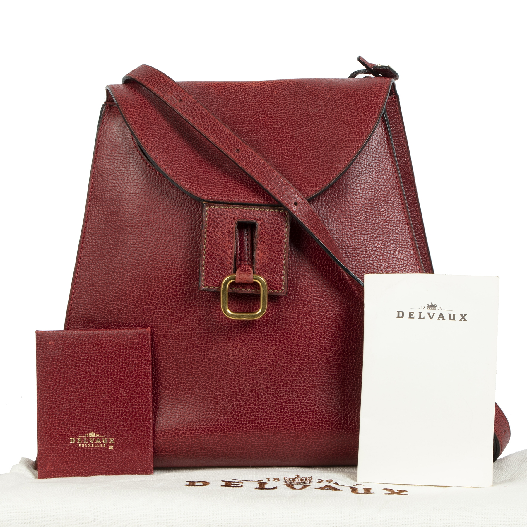 Delvaux Red Clé de Fa Shoulder Bag