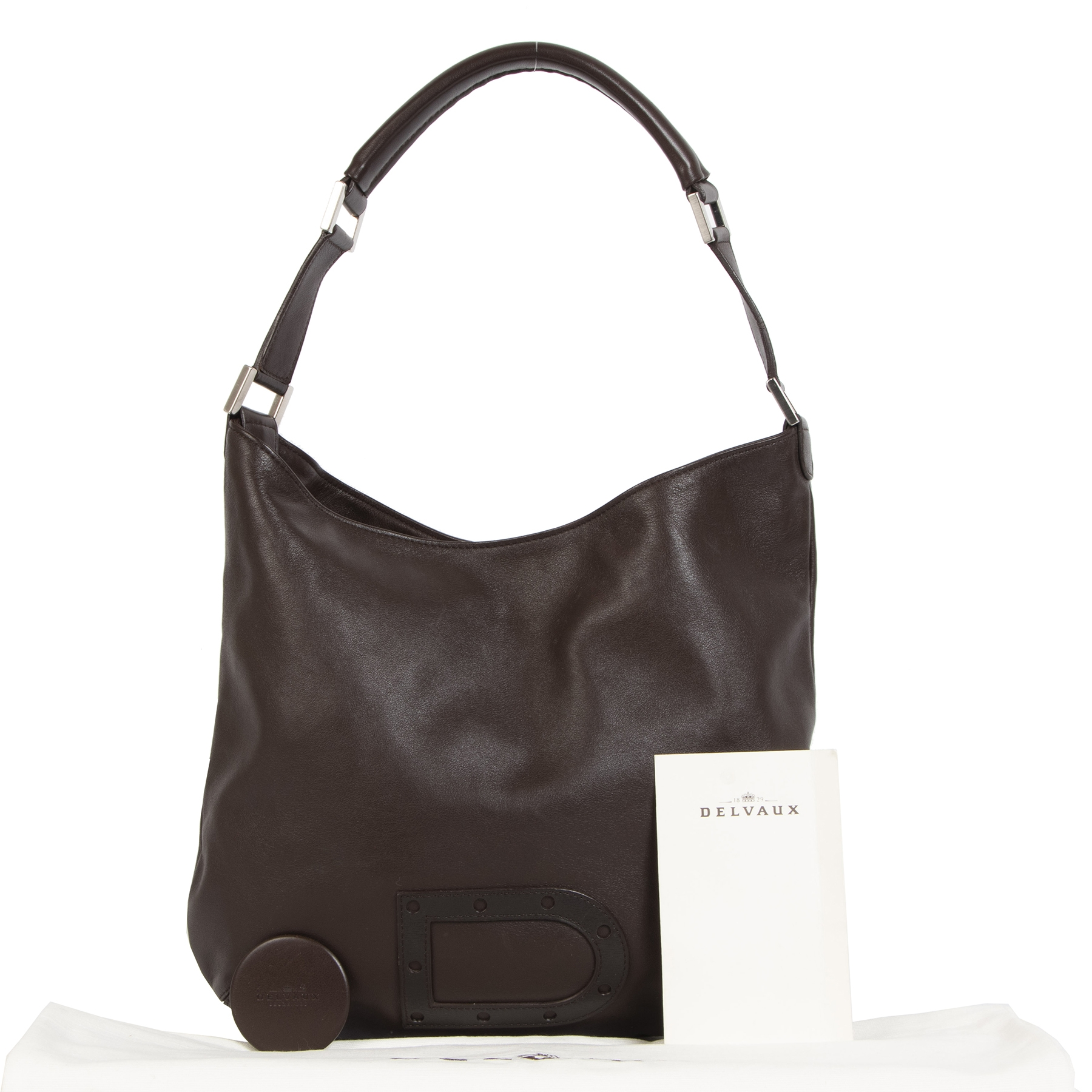 We buy and sell your  Delvaux Le Louise PM Sangria Brown for the best price