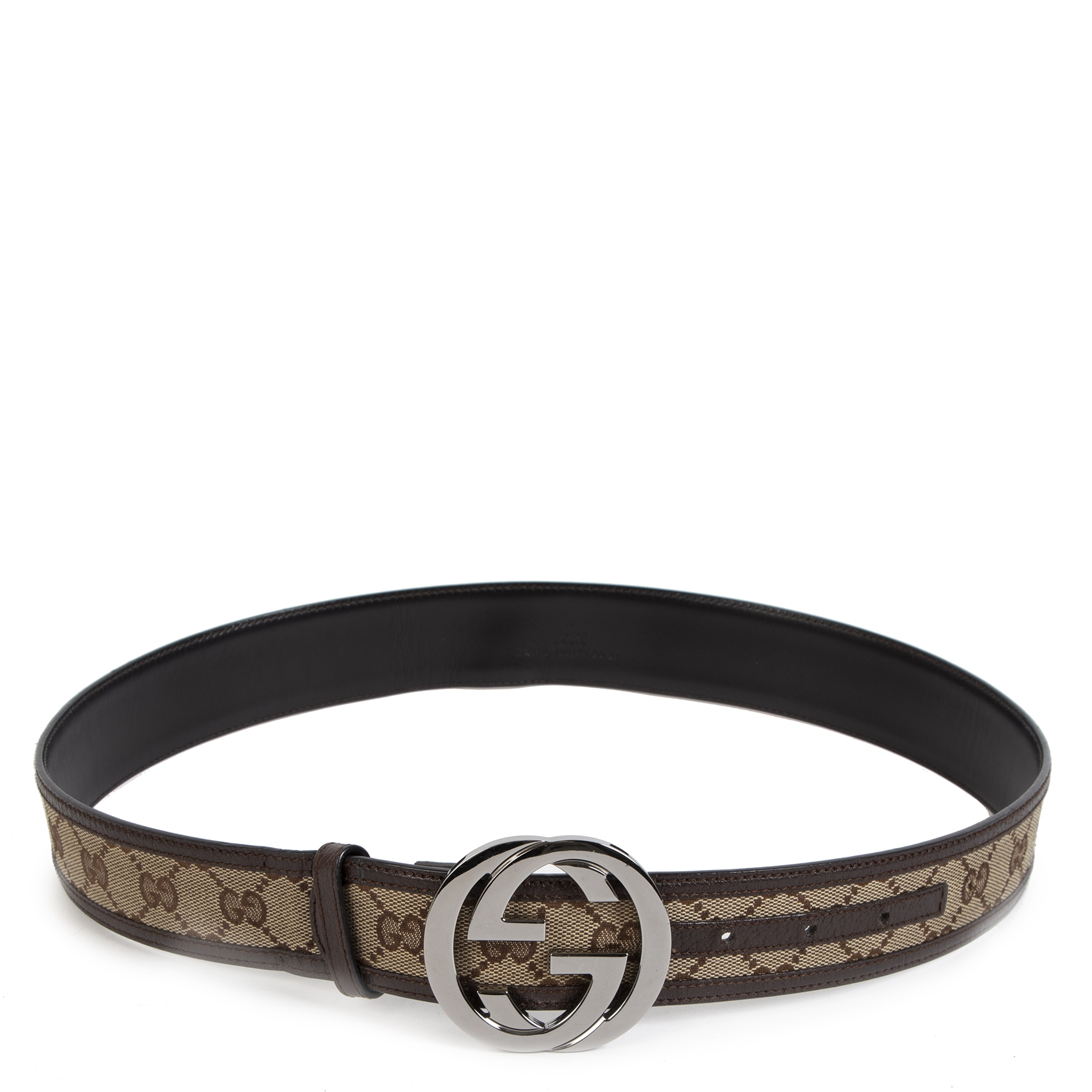 Gucci Monogram Interlocking GG Belt - Size 80