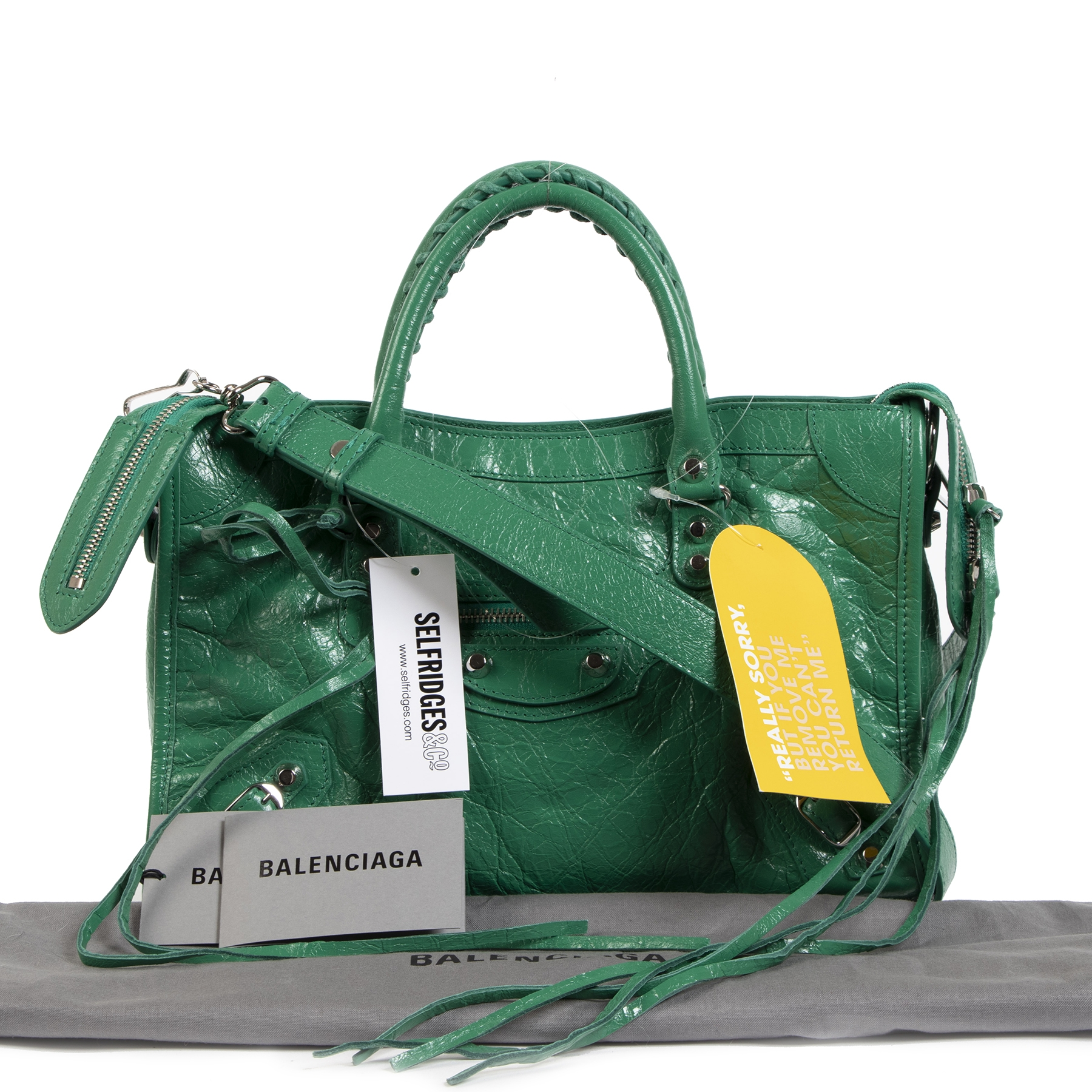 Authentique seconde-main vintage Balenciaga Green Classic City S Bag achète en ligne webshop LabelLOV